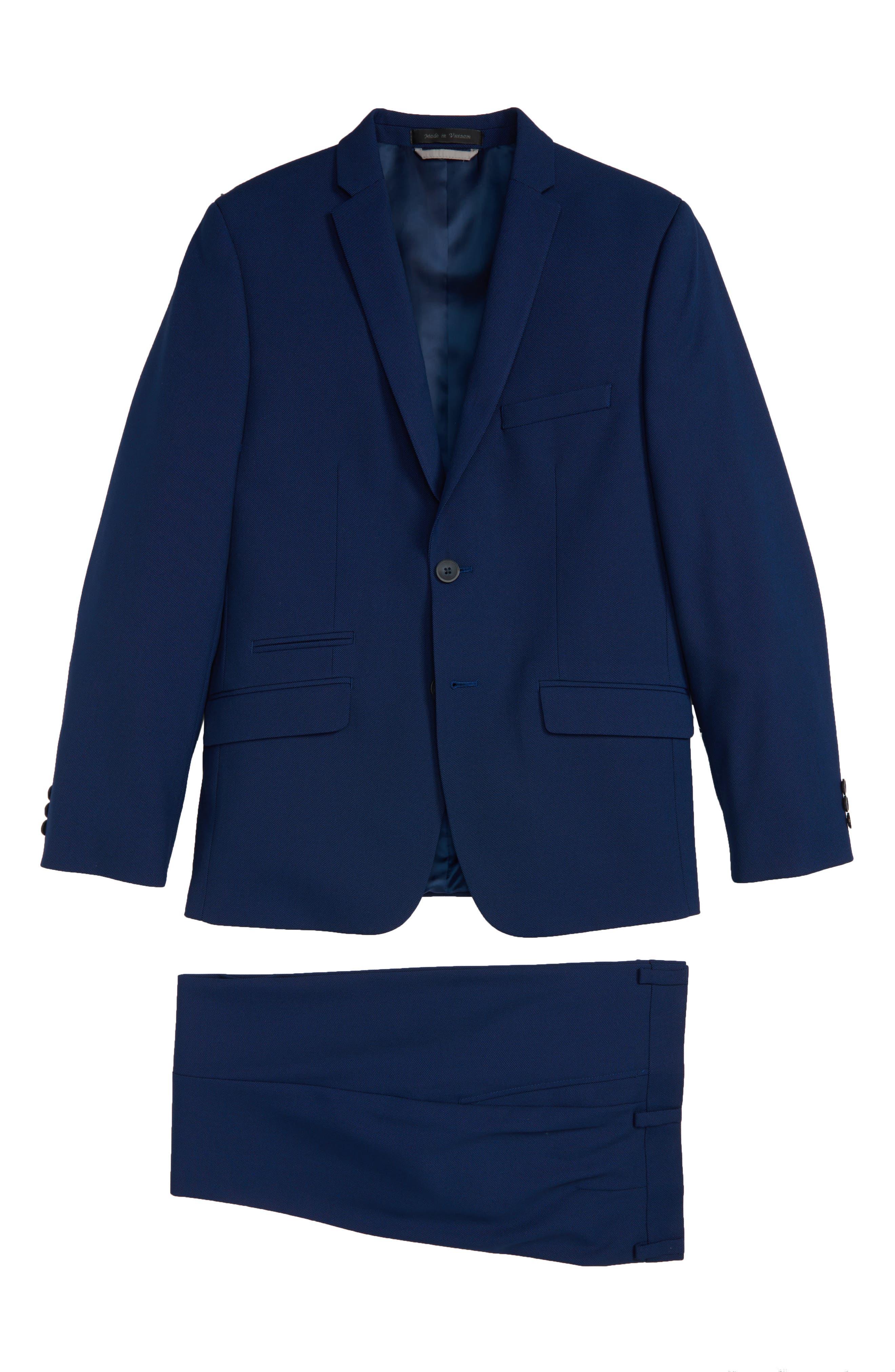 Plain Suit,                             Main thumbnail 1, color,                             DARK BLUE