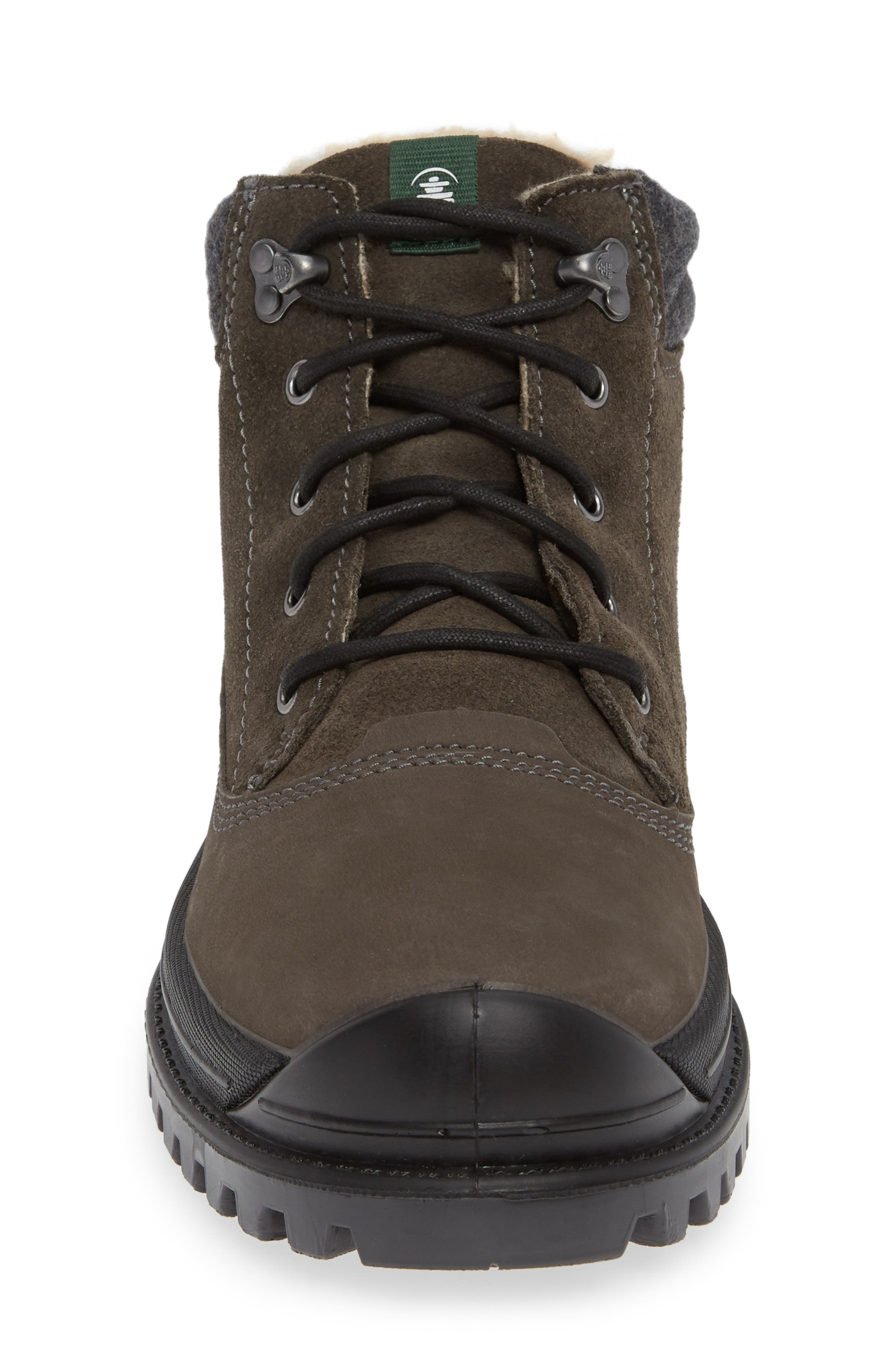 KAMIK,                             Griffin Mid Waterproof Boot,                             Alternate thumbnail 4, color,                             CHARCOAL LEATHER