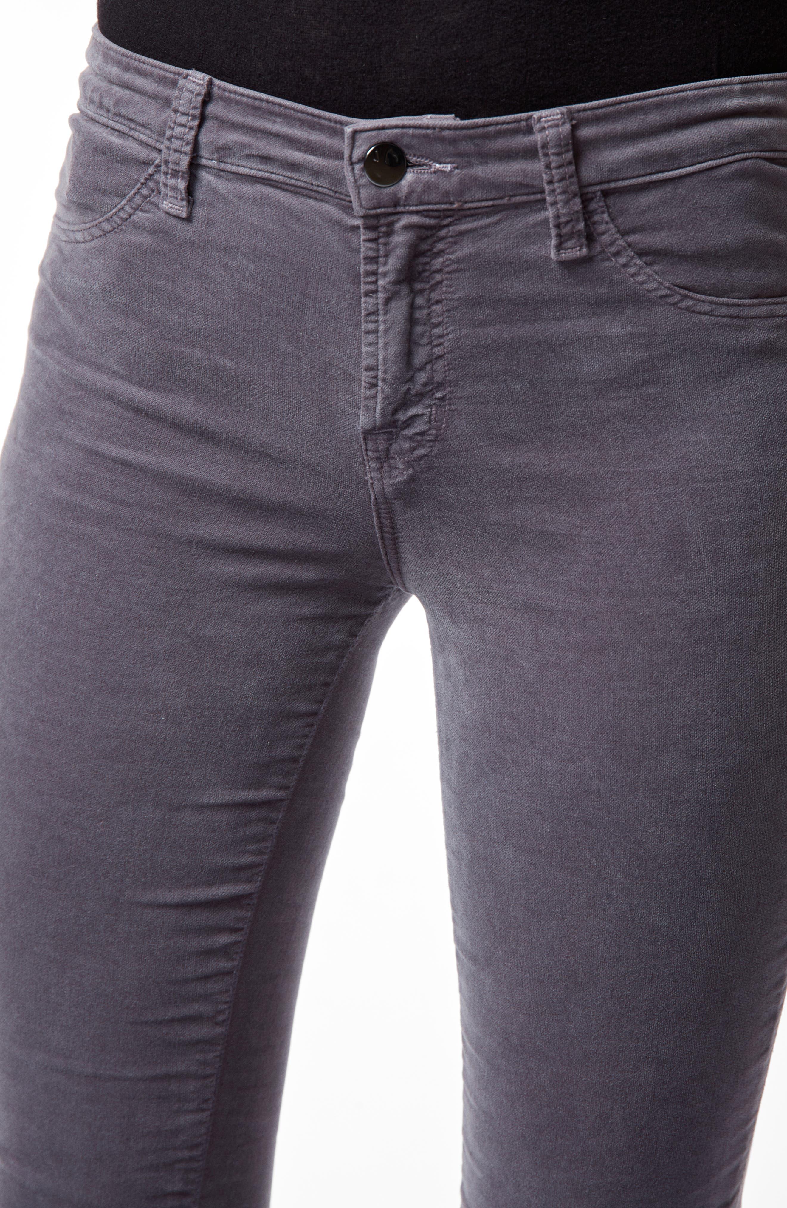 '815' Mid Rise Velveteen Super Skinny Jeans,                             Alternate thumbnail 5, color,                             030