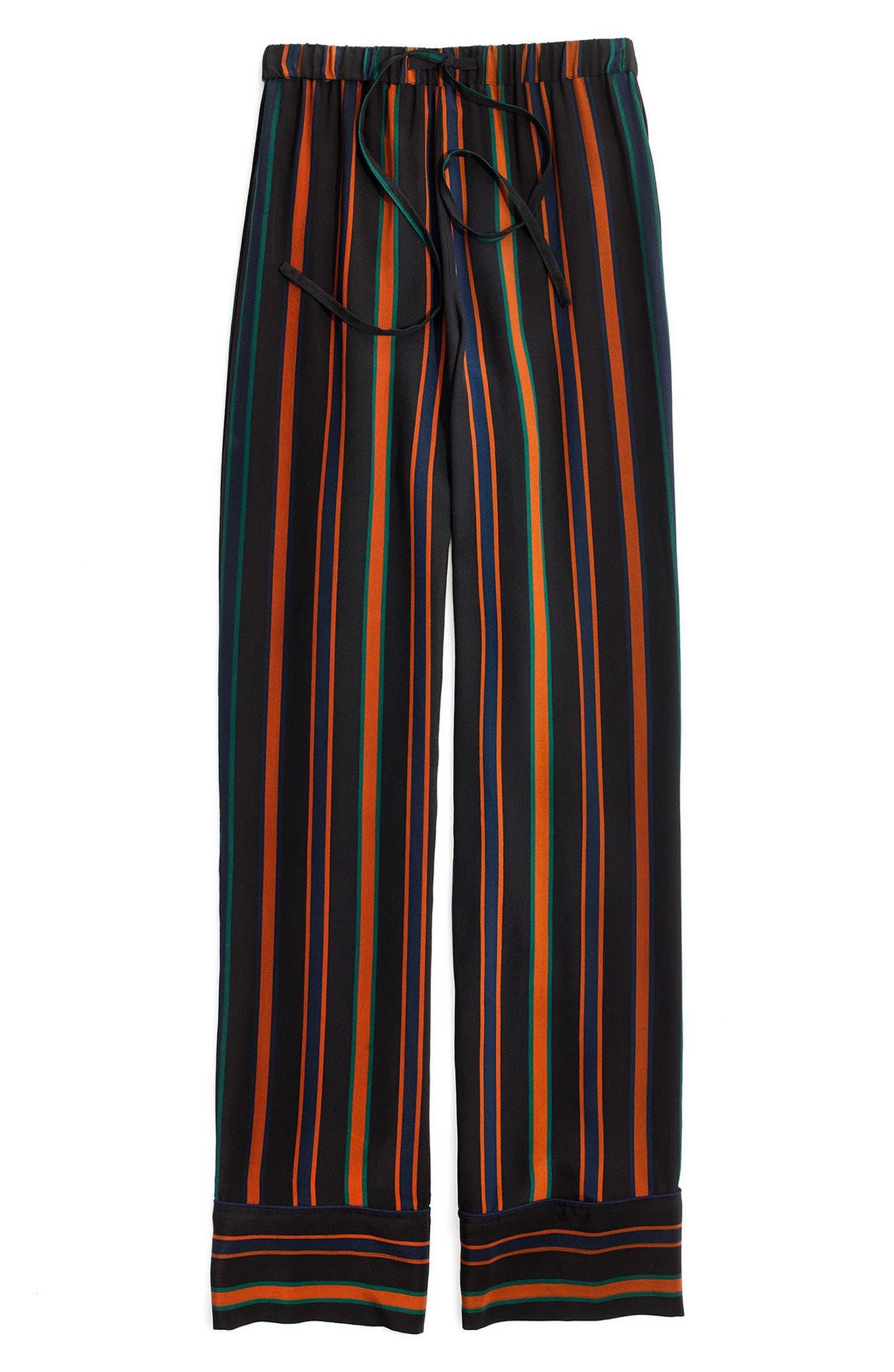 Stripe Pajama Trousers,                             Alternate thumbnail 3, color,                             010