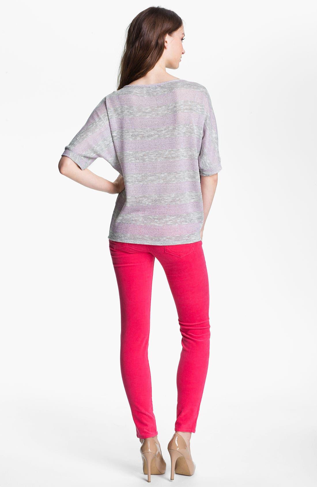 'Diana' Stretch Corduroy Skinny Pants,                             Alternate thumbnail 198, color,