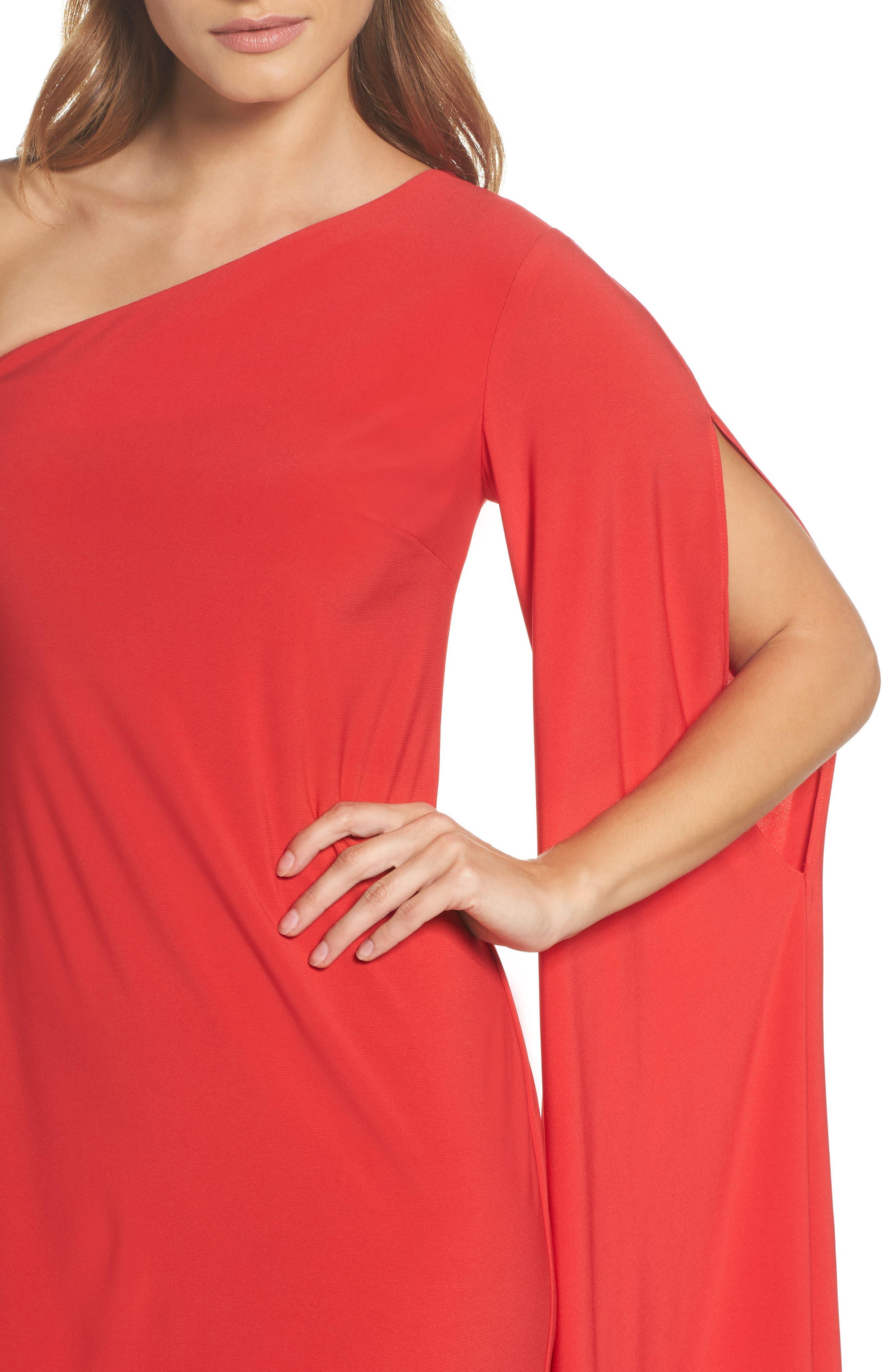 Musa One-Shoulder Dress,                             Alternate thumbnail 4, color,