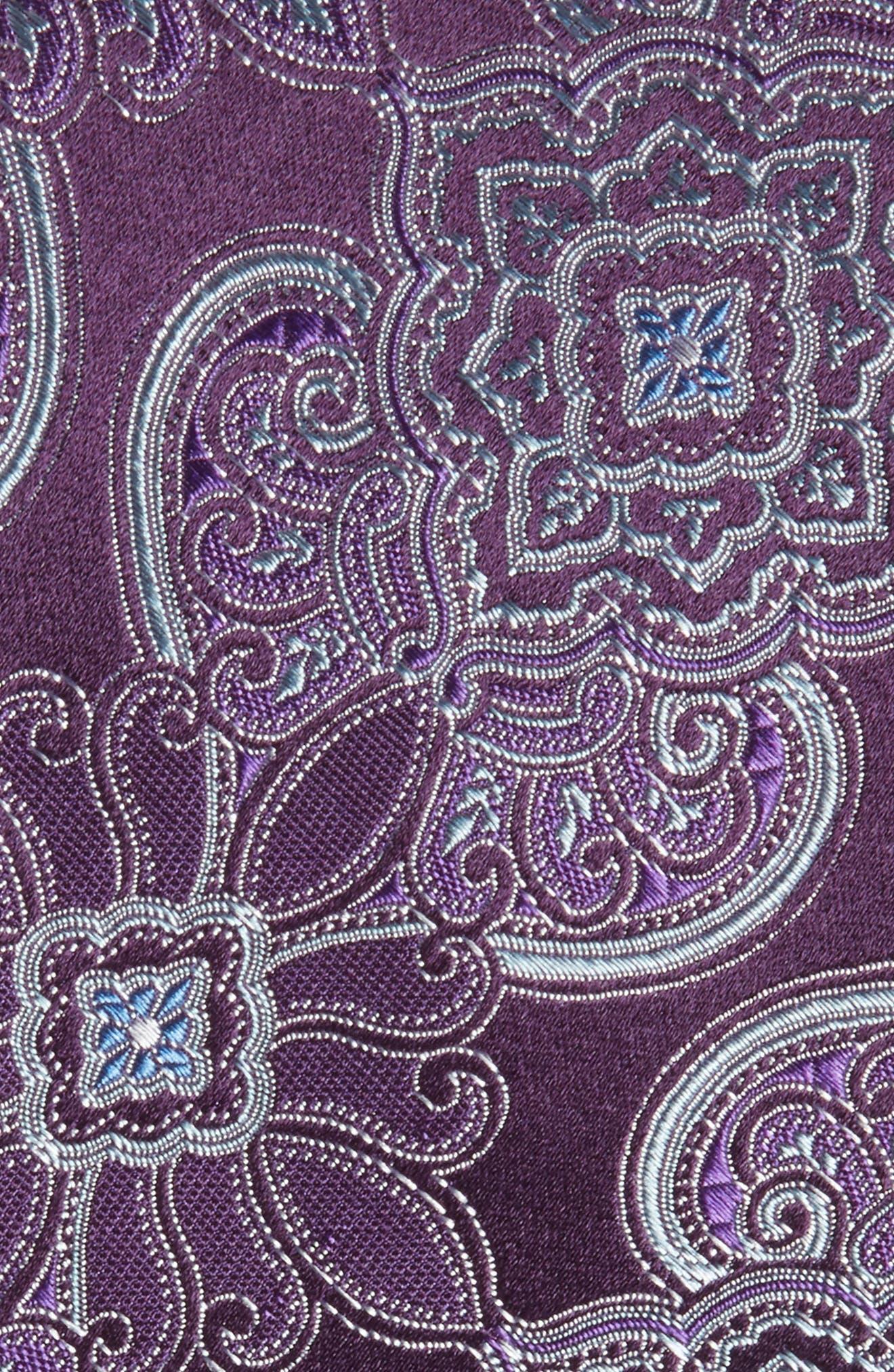 Casey Medallion Silk Tie,                             Alternate thumbnail 2, color,                             PURPLE