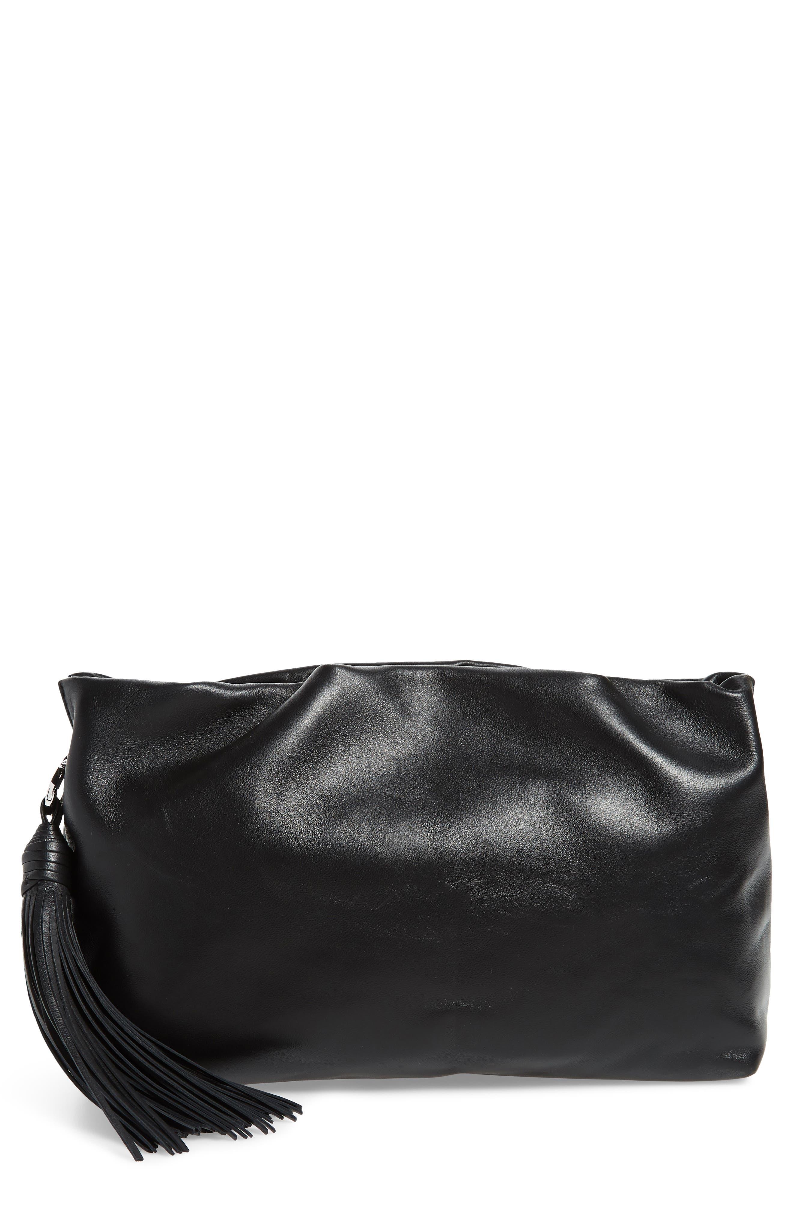 Rebecca Minkoff Ruby Ruched Leather Clutch
