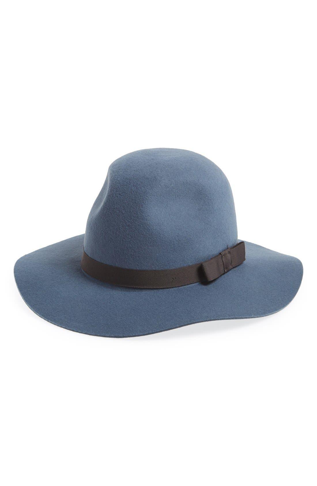 'Dalila' Floppy Felt Hat,                             Main thumbnail 3, color,
