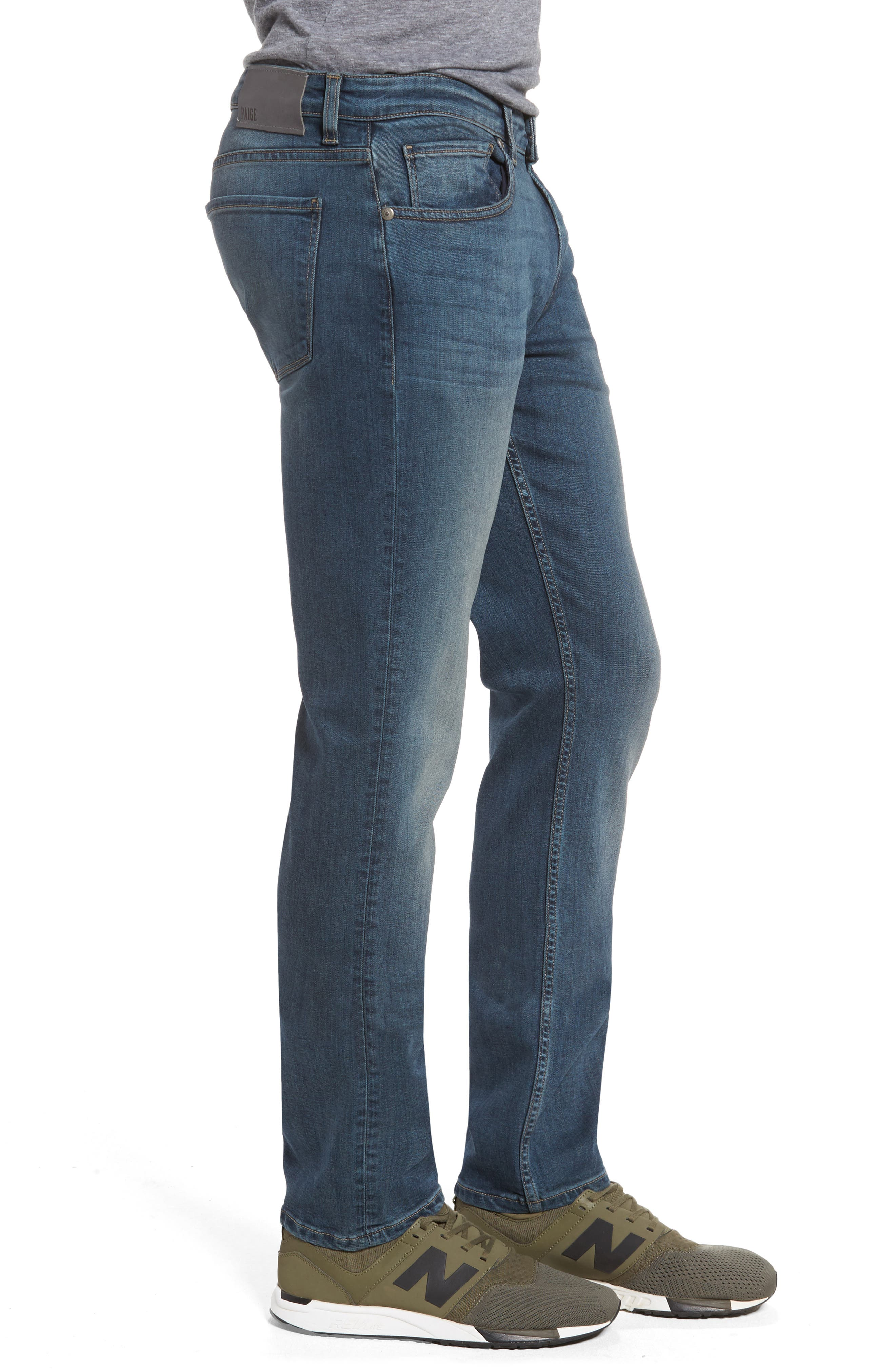 Transcend - Lennox Slim Fit Jeans,                             Alternate thumbnail 3, color,                             400