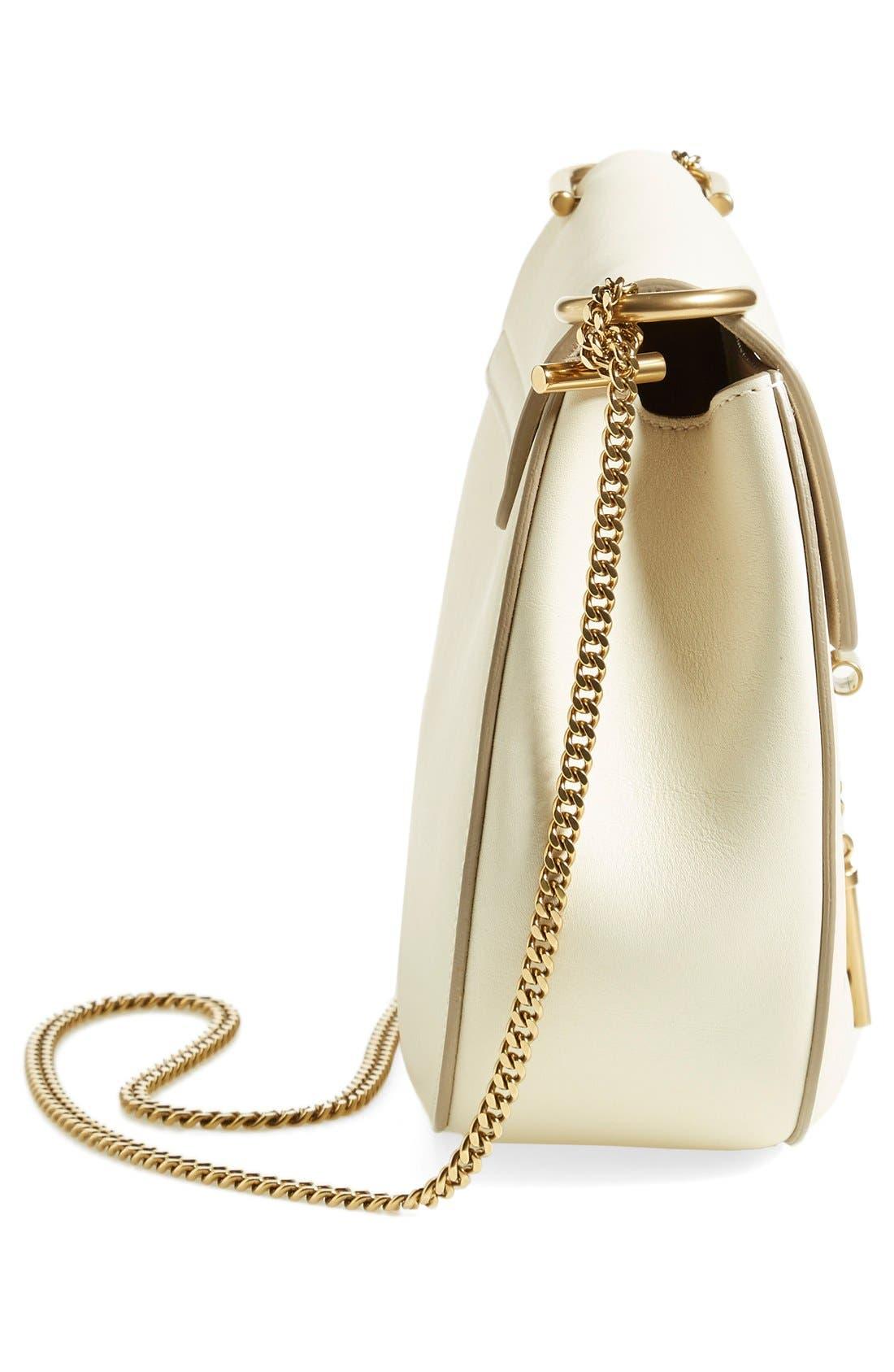 'Mini Drew' Calfskin Leather Shoulder Bag,                             Alternate thumbnail 6, color,                             100