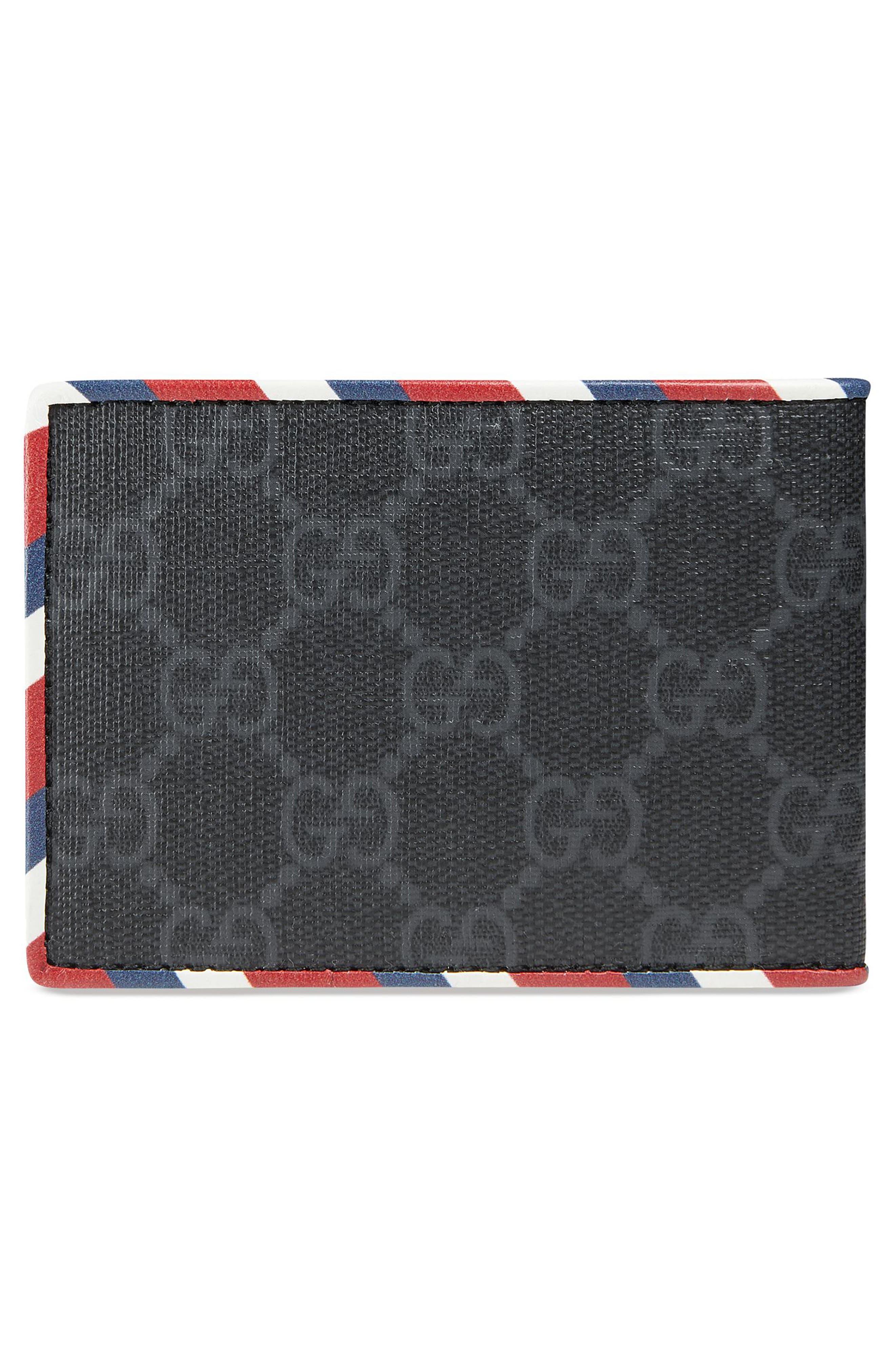GG Supreme Patch Wallet,                             Alternate thumbnail 3, color,                             BLACK