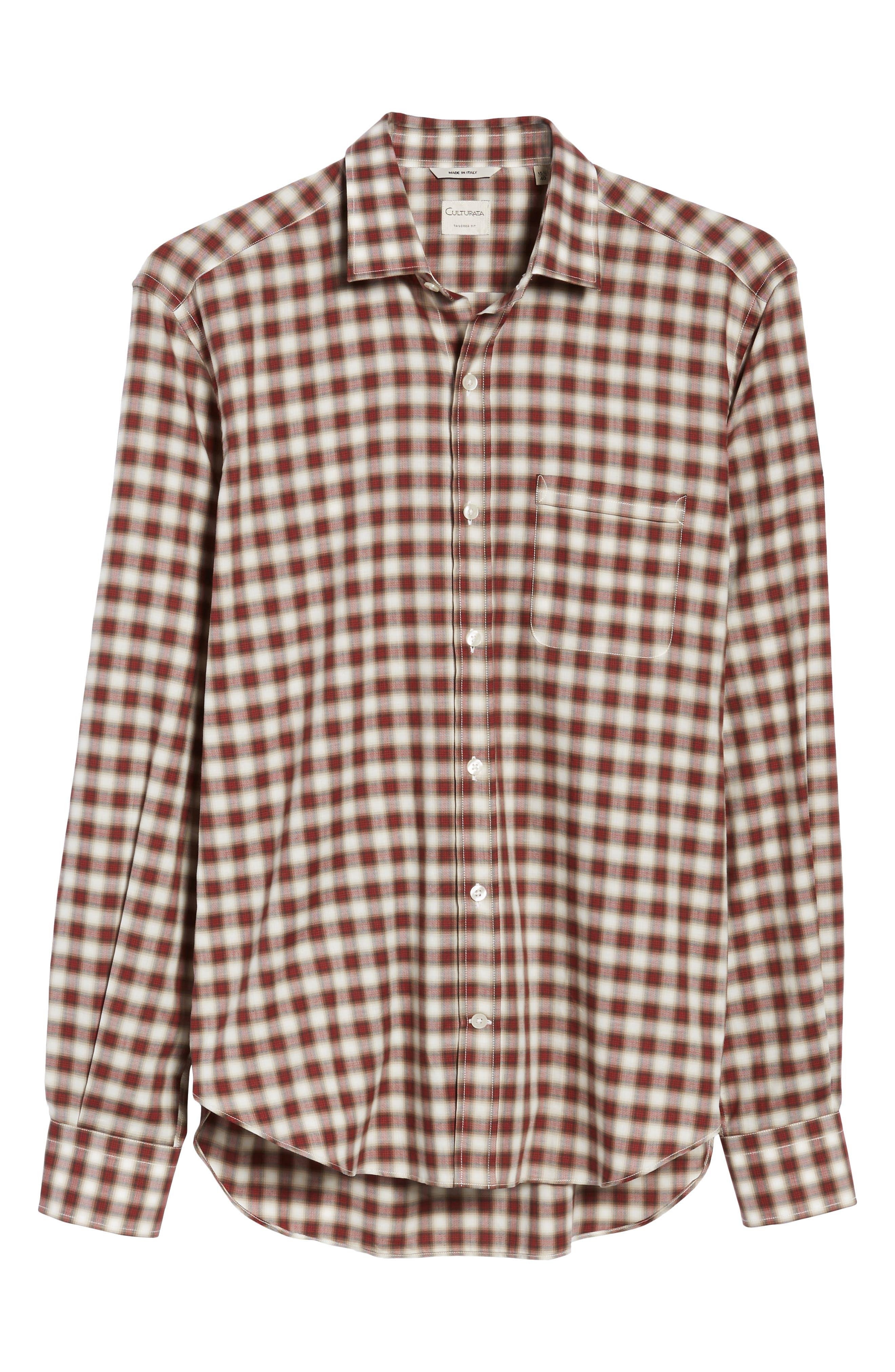 Vintage Plaid Sport Shirt,                             Alternate thumbnail 6, color,