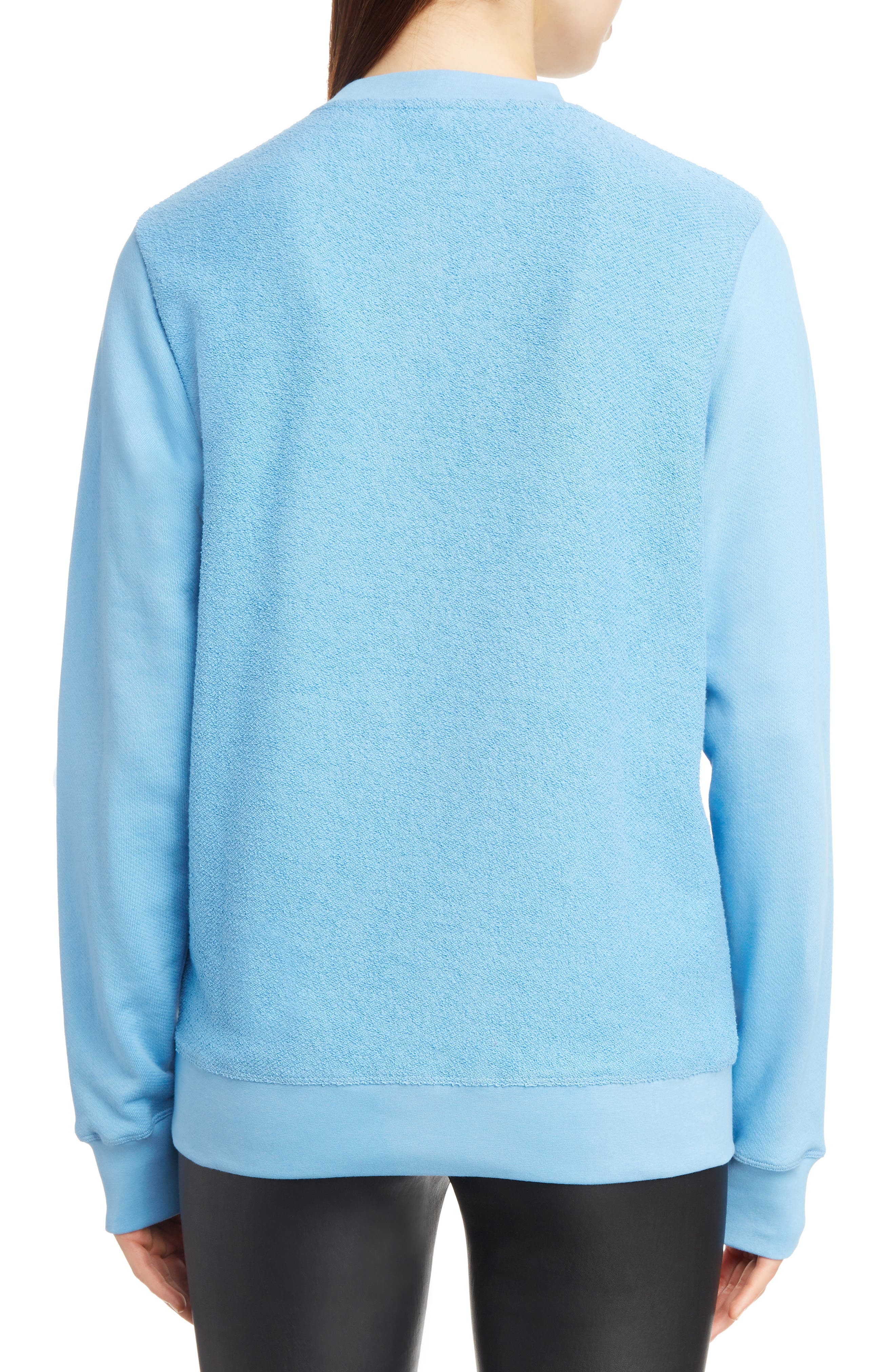 Terry Bodice Logo Sweatshirt,                             Alternate thumbnail 2, color,                             450