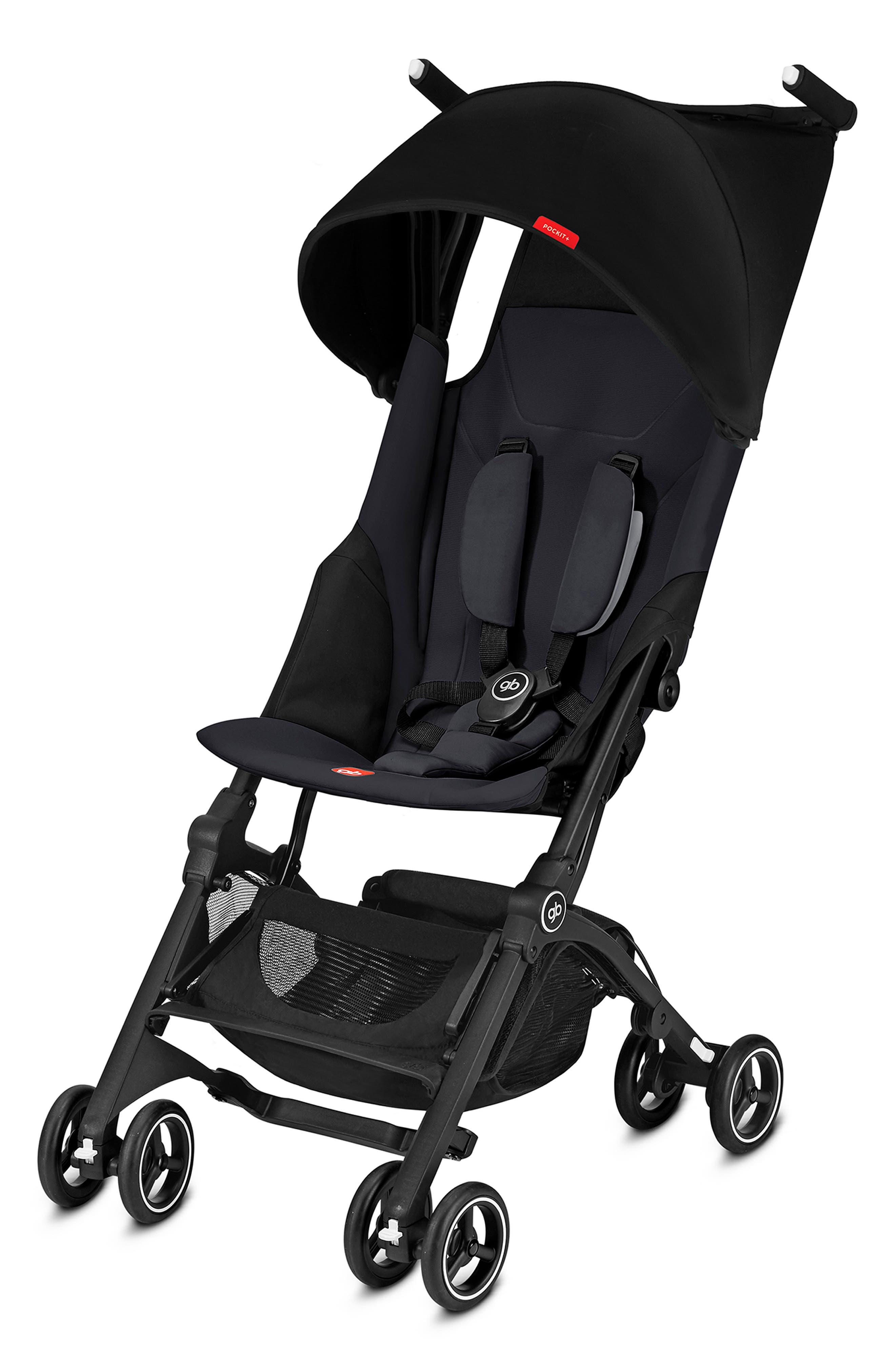 gp Pockit Stroller, Main, color, SATIN BLACK