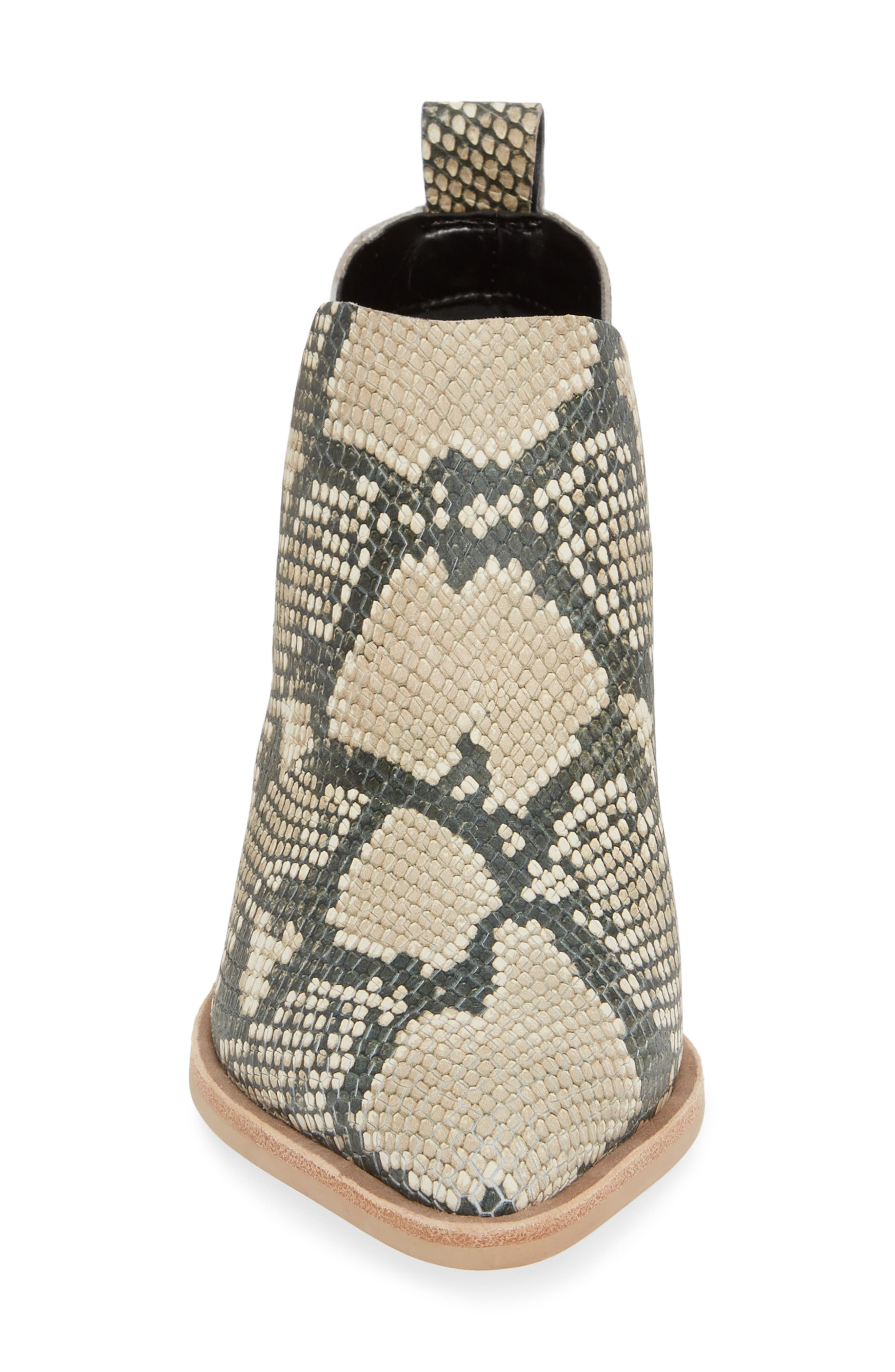 DOLCE VITA,                             Sonni Pointy Toe Bootie,                             Alternate thumbnail 4, color,                             SNAKE PRINT EMBOSSED LEATHER