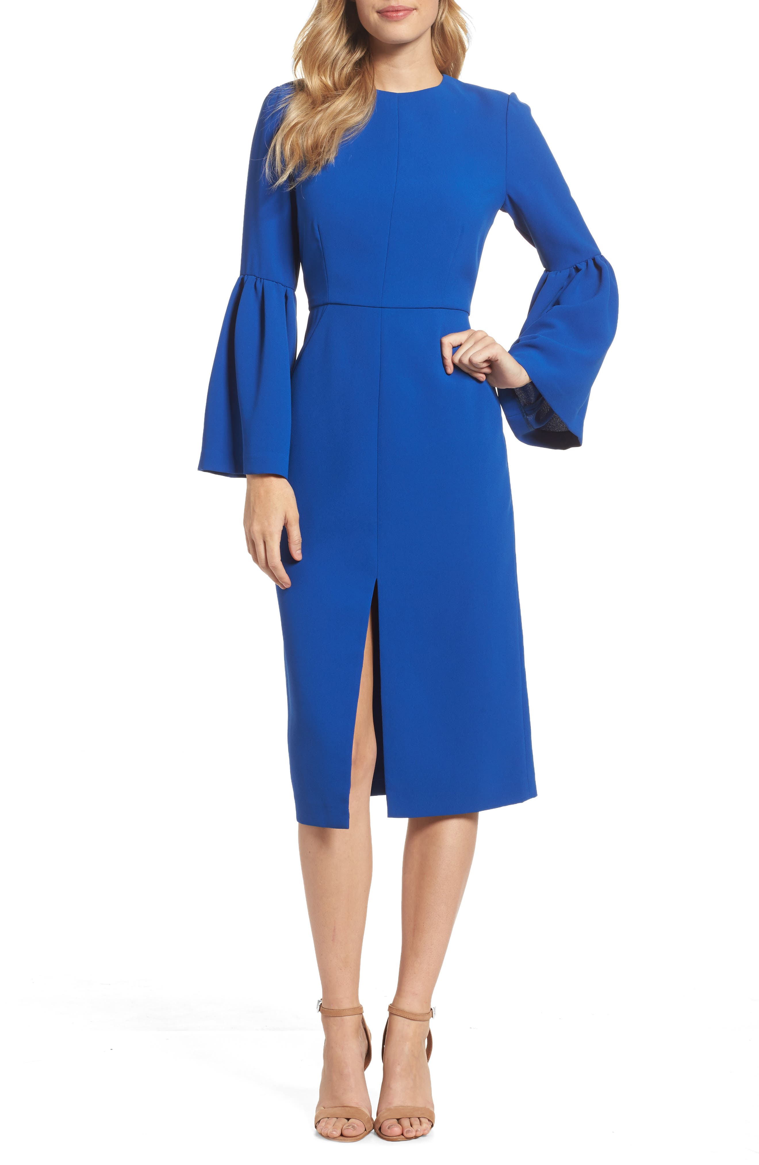 Bell Sleeve Dress,                             Main thumbnail 1, color,                             471