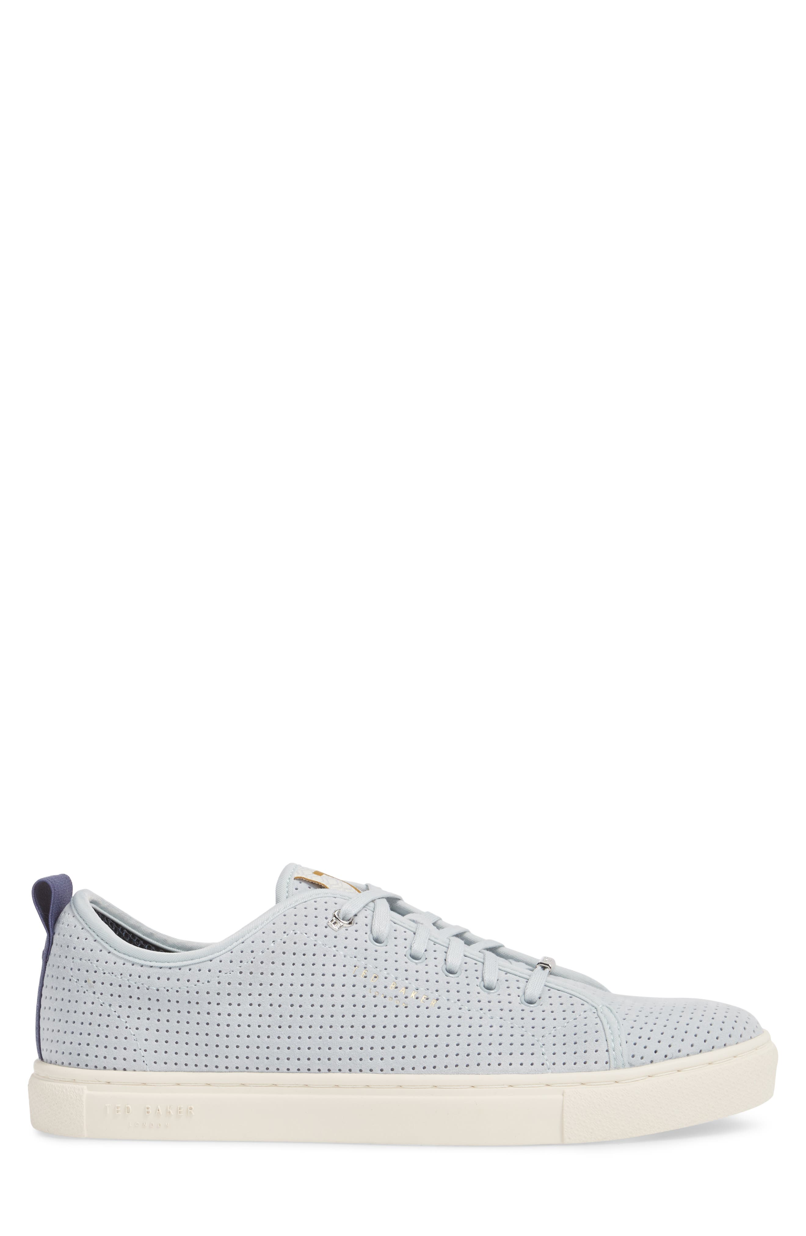 Kaliix Perforated Low Top Sneaker,                             Alternate thumbnail 3, color,                             LIGHT BLUE SUEDE
