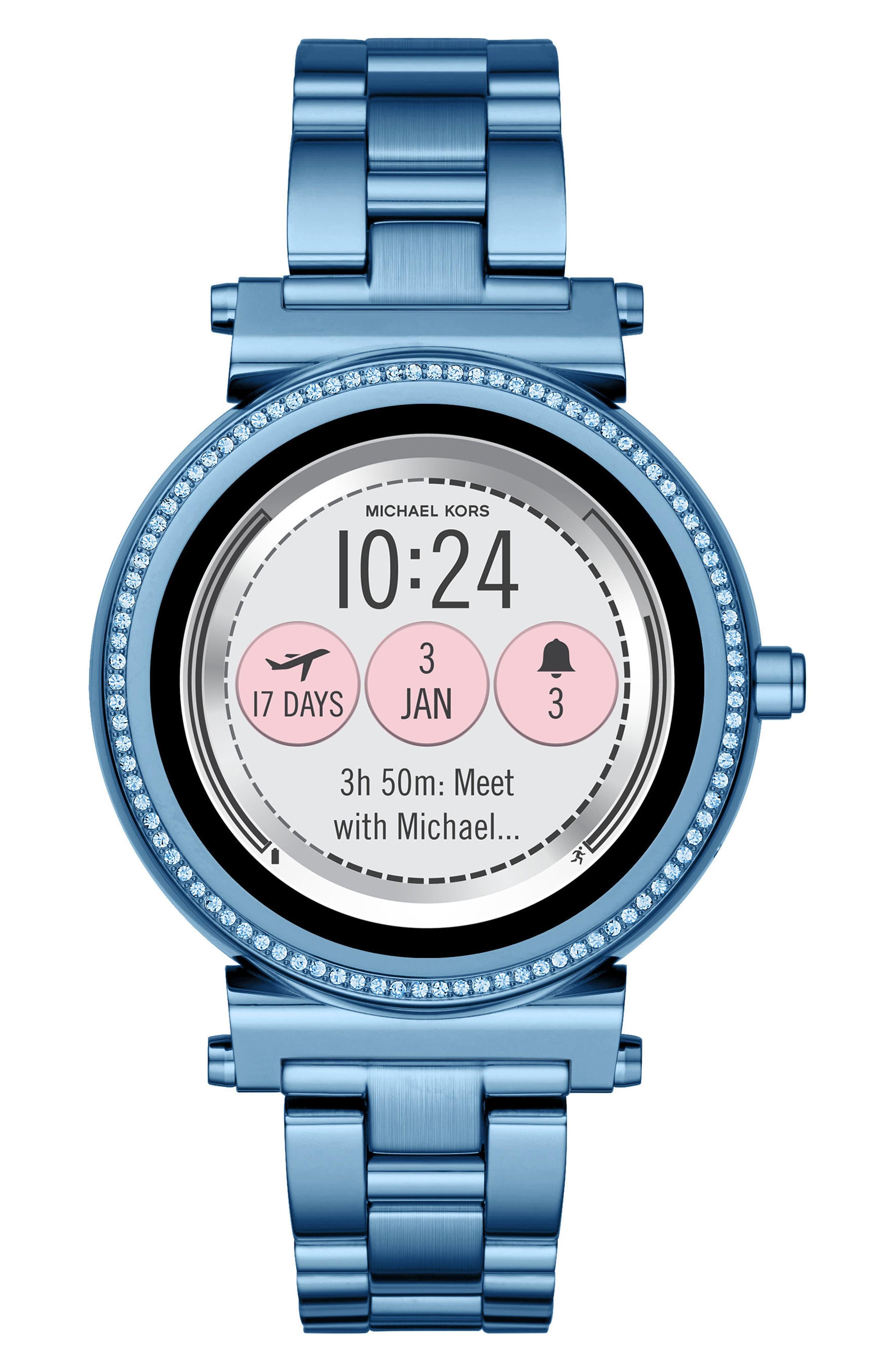 Sofie Touchscreen Bracelet Smart Watch, 42mm,                             Main thumbnail 1, color,                             400
