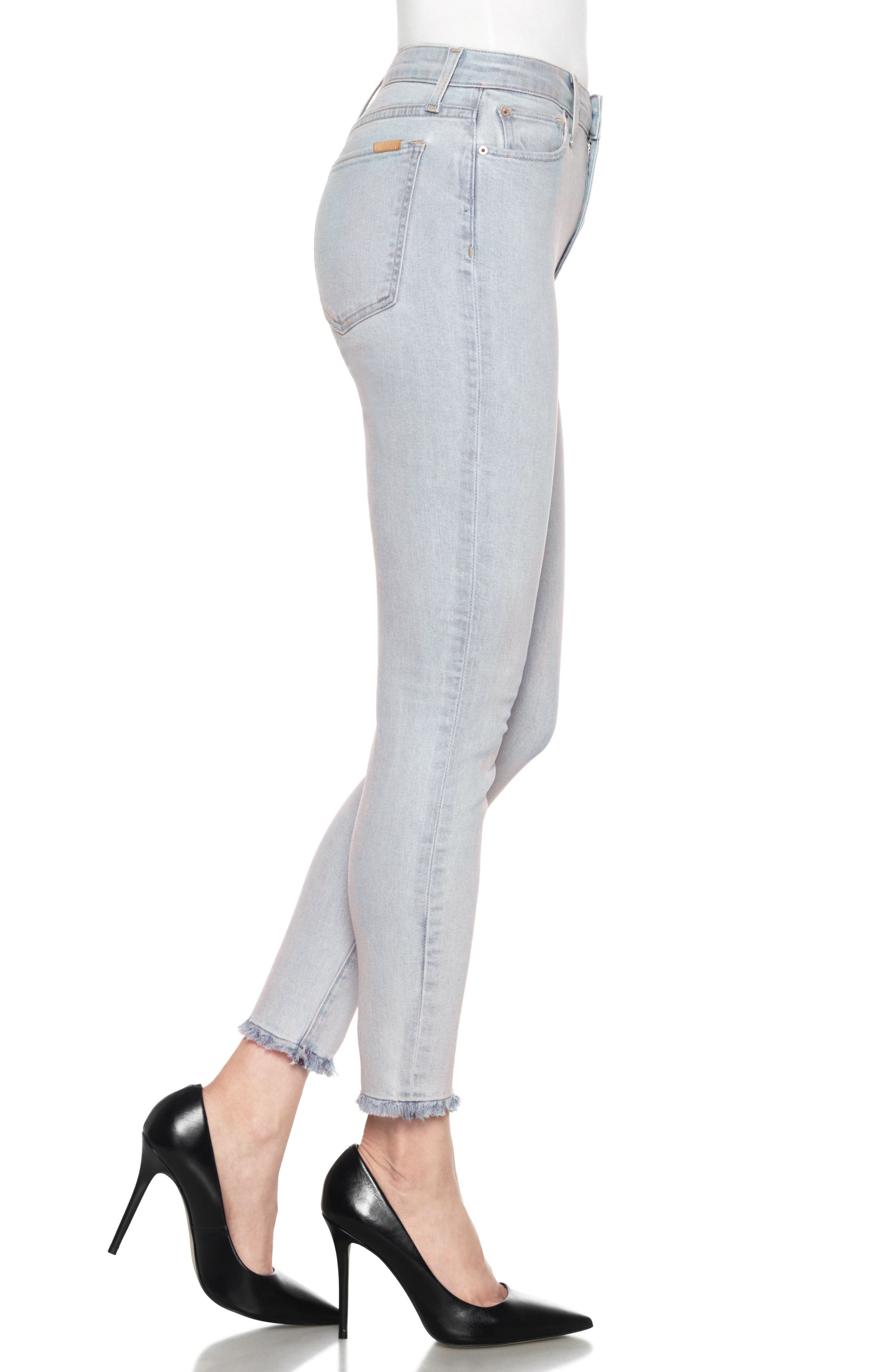 Flawless - Charlie High Waist Ankle Skinny Jeans,                             Alternate thumbnail 3, color,                             415