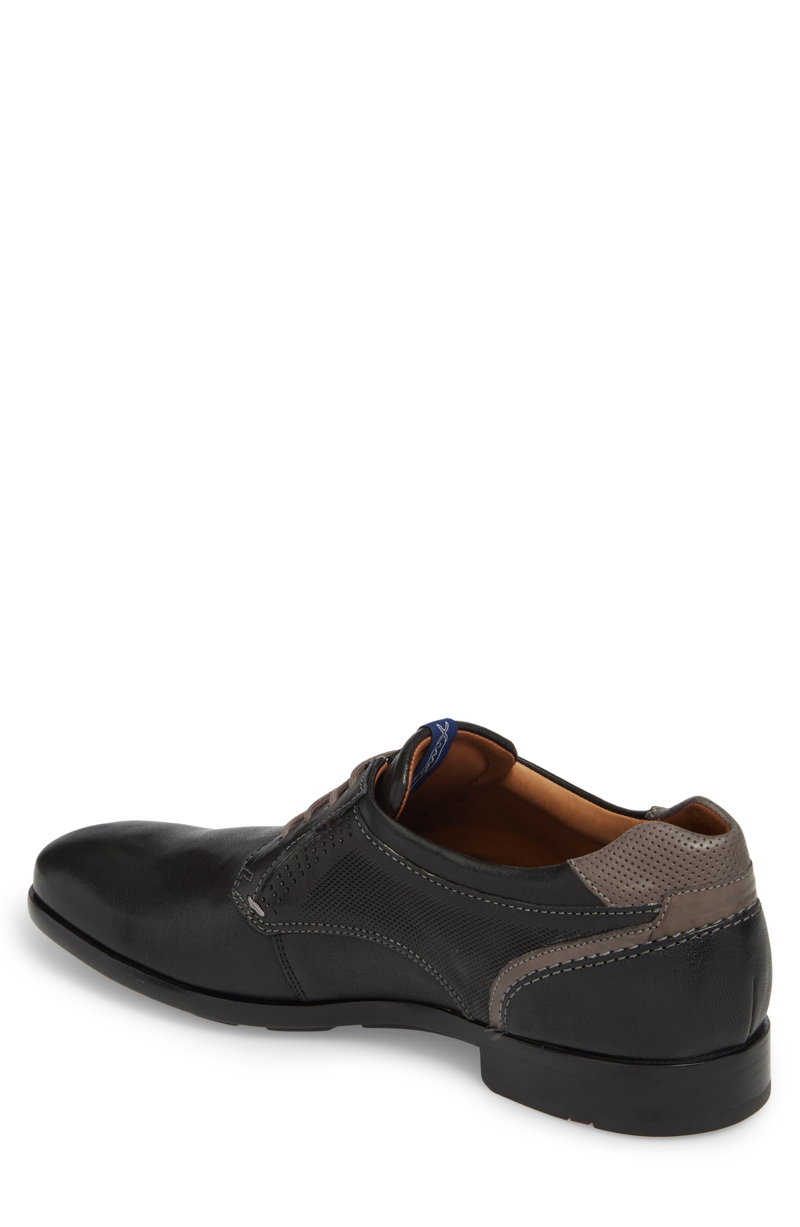 Morice Plain Toe Derby,                             Alternate thumbnail 2, color,                             BLACK/ GREY LEATHER