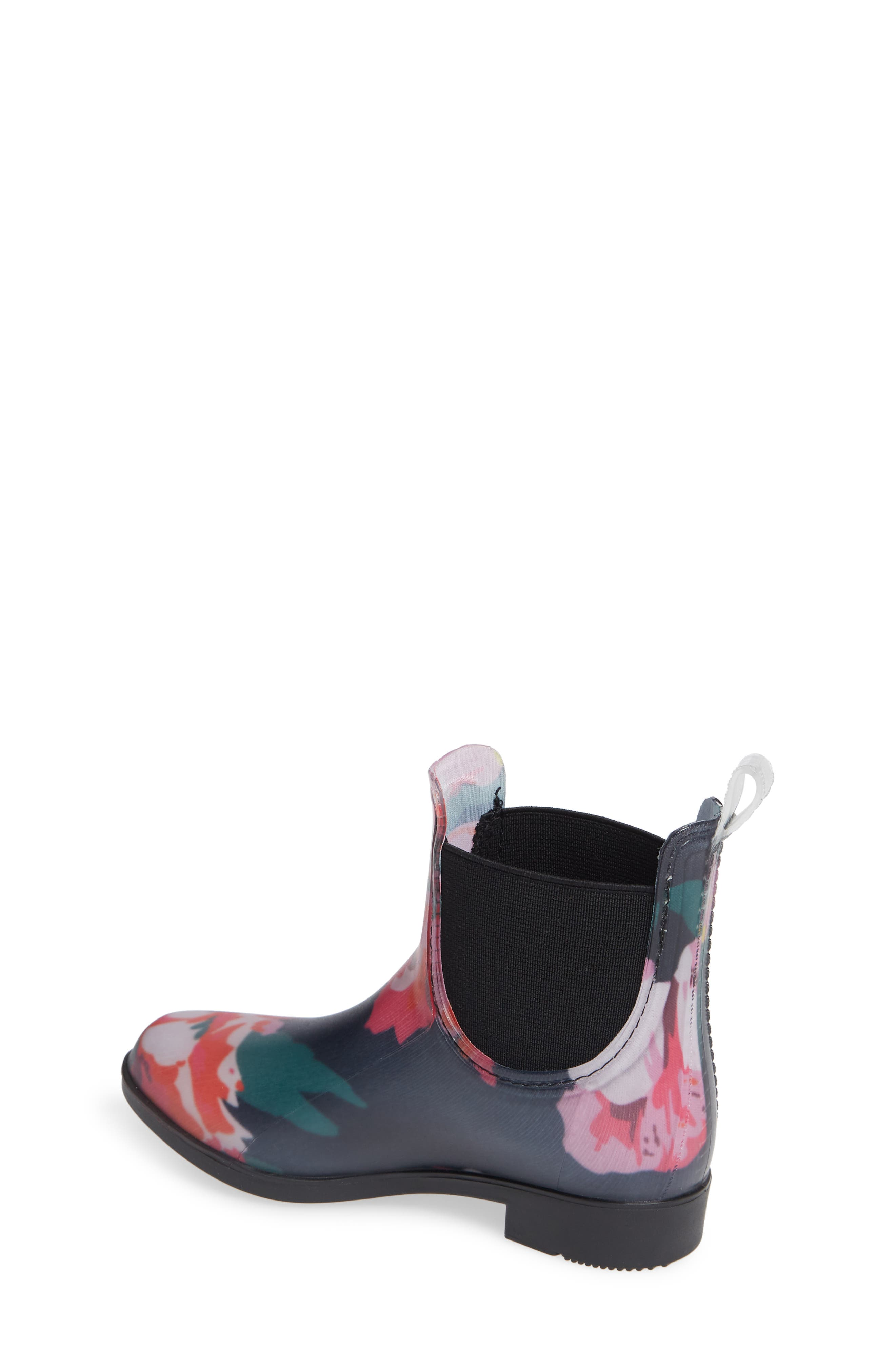 Chelsea Rain Boot,                             Alternate thumbnail 2, color,                             NAVY GRANNY FLORAL