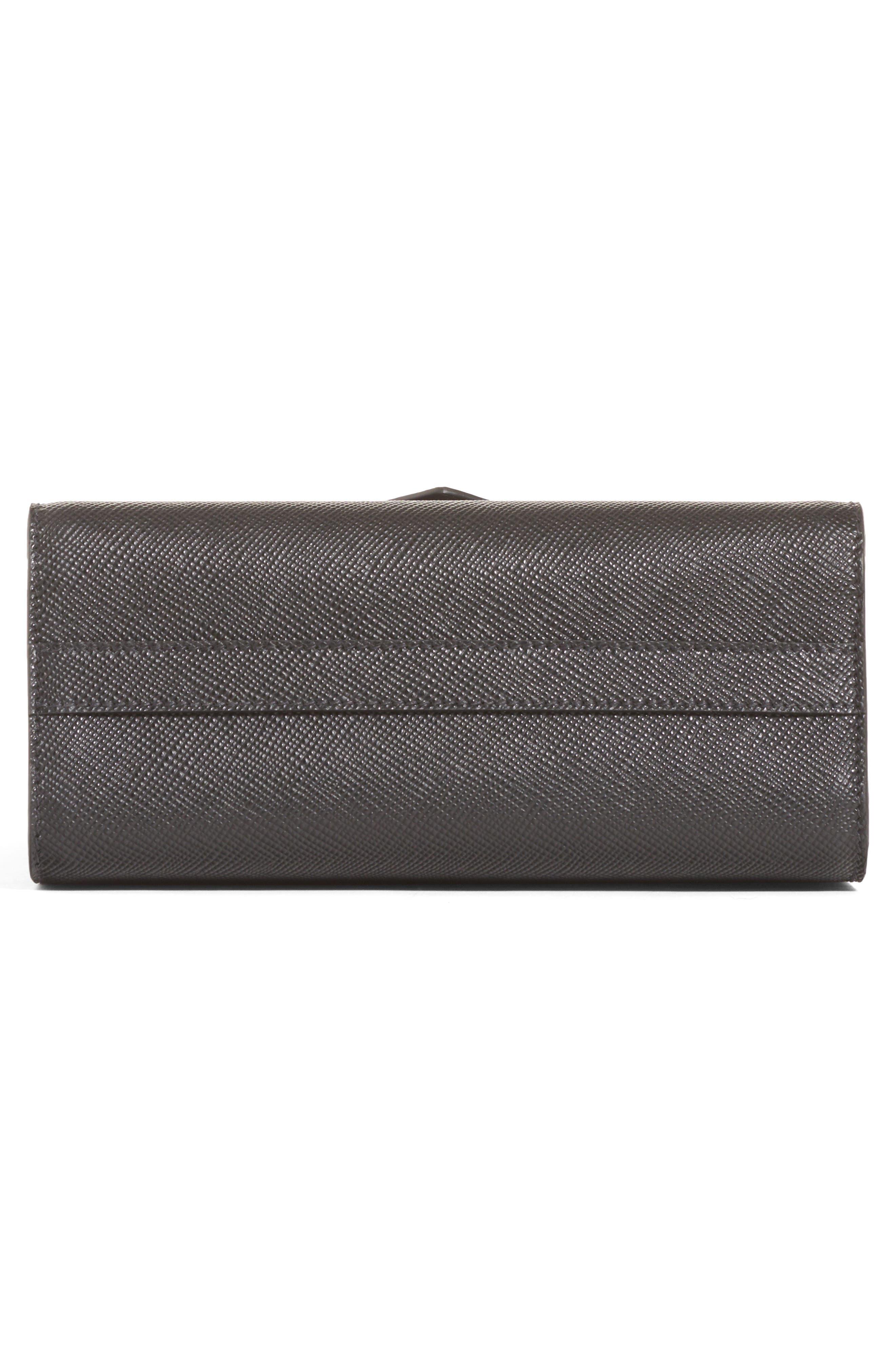 PRADA,                             Monochrome Saffiano Leather Shoulder Bag,                             Alternate thumbnail 5, color,                             NERO