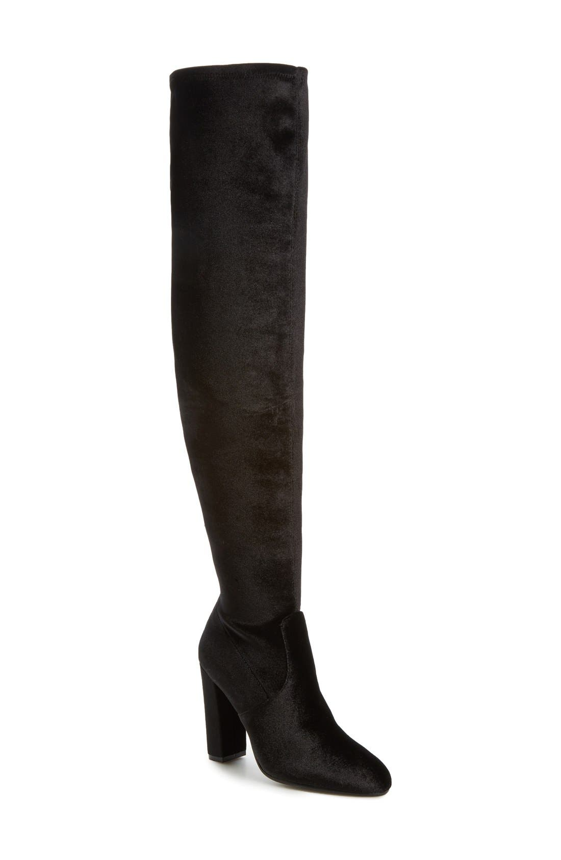 Emotionv Over the Knee Boot,                             Main thumbnail 1, color,                             001