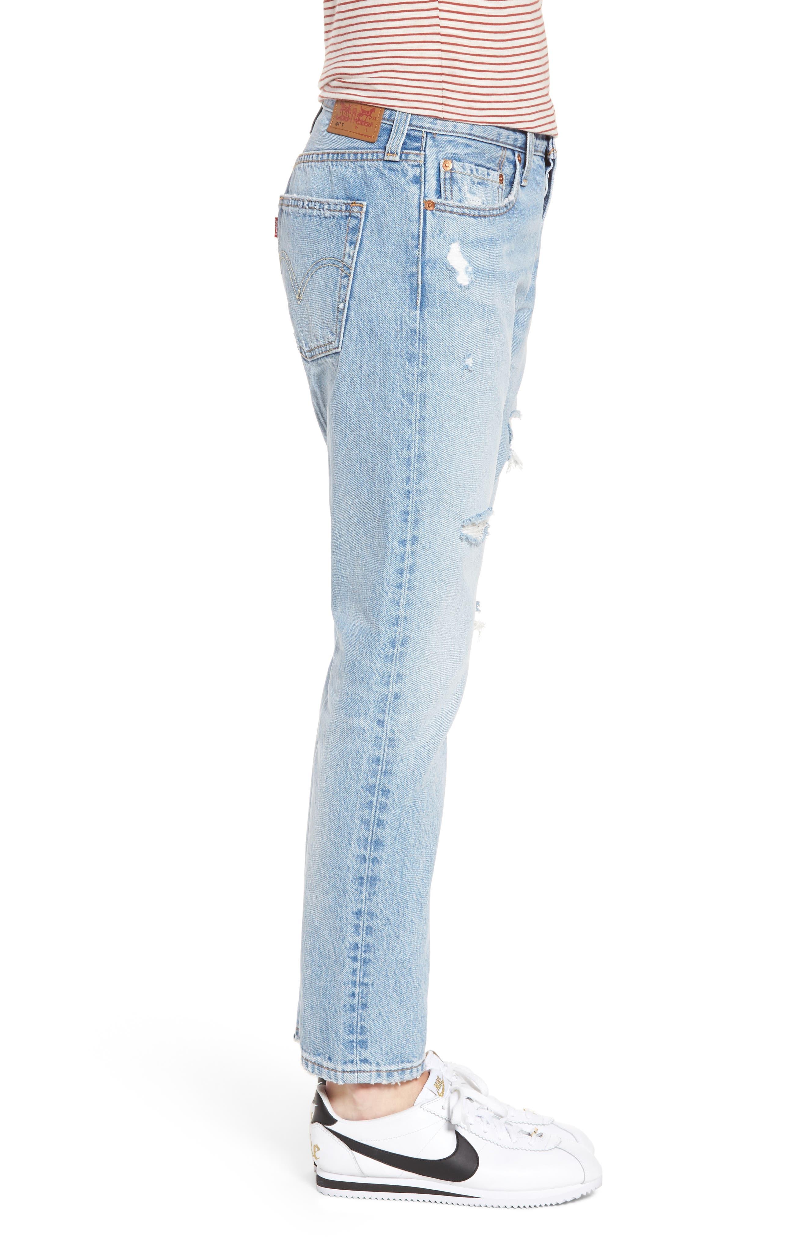 501<sup>®</sup> Boyfriend Jeans,                             Alternate thumbnail 3, color,                             450