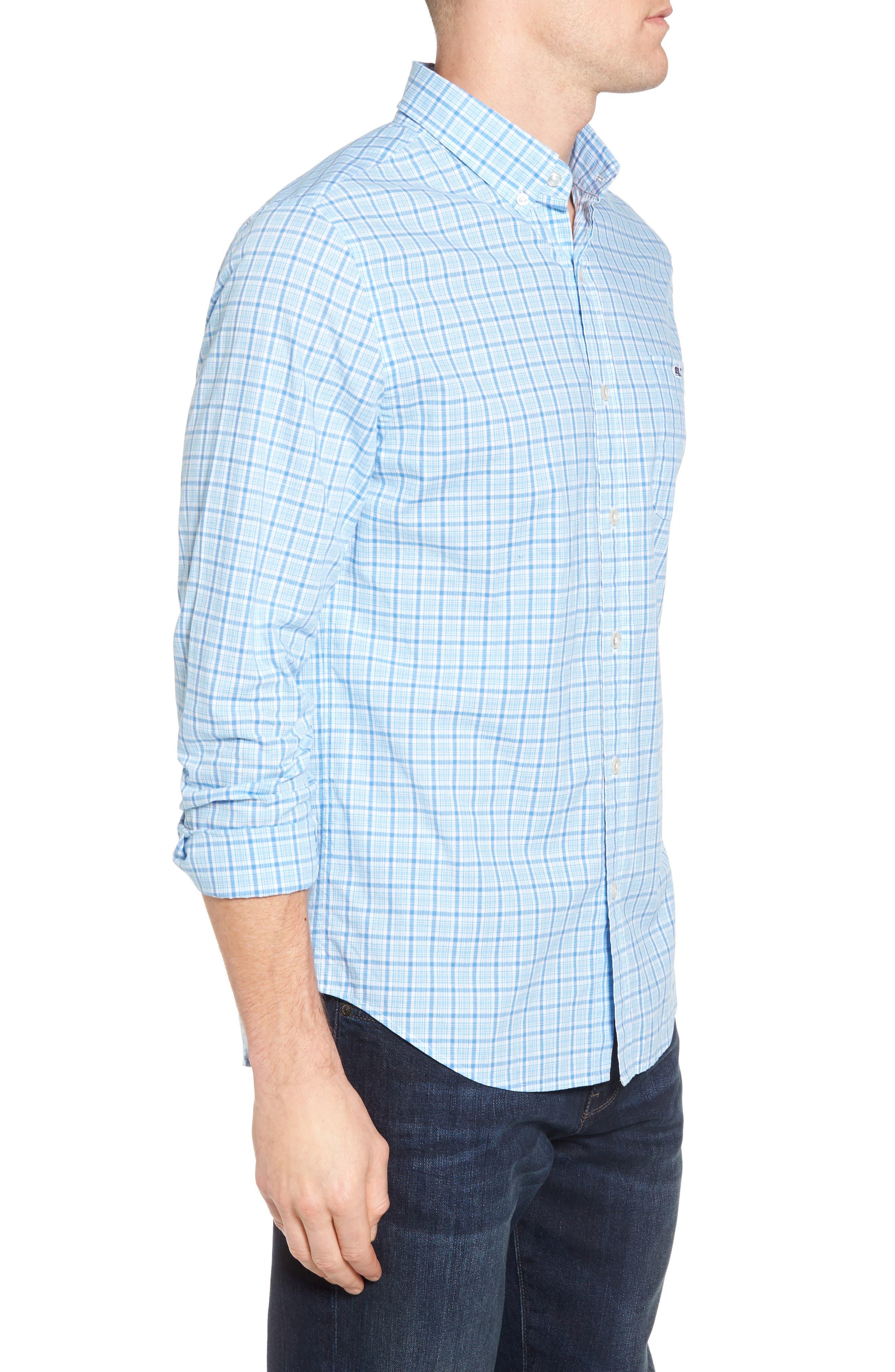 Seawatch Slim Fit Plaid Sport Shirt,                             Alternate thumbnail 3, color,                             459