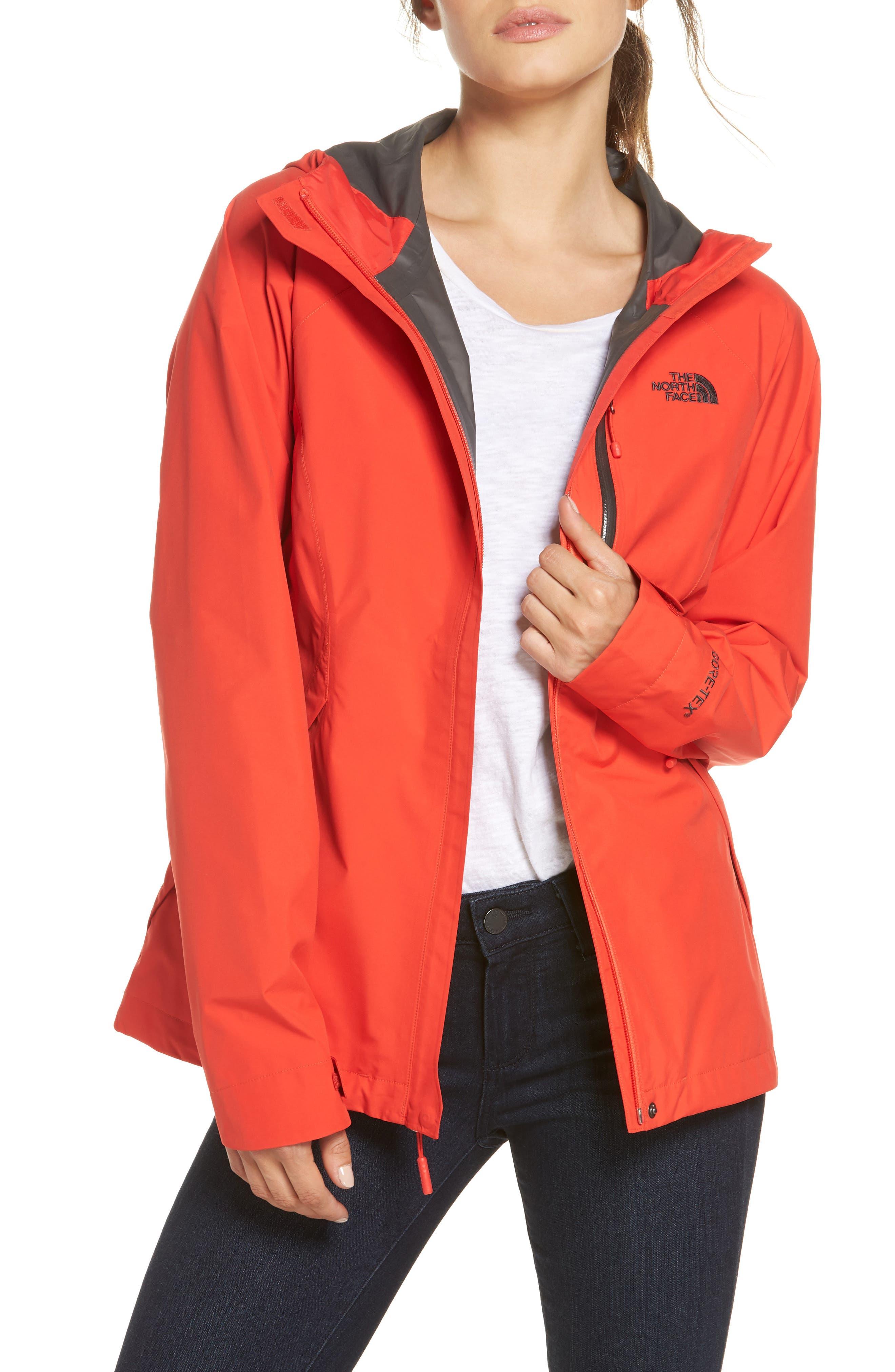 'Dryzzle' Hooded Jacket,                         Main,                         color, JUICY RED