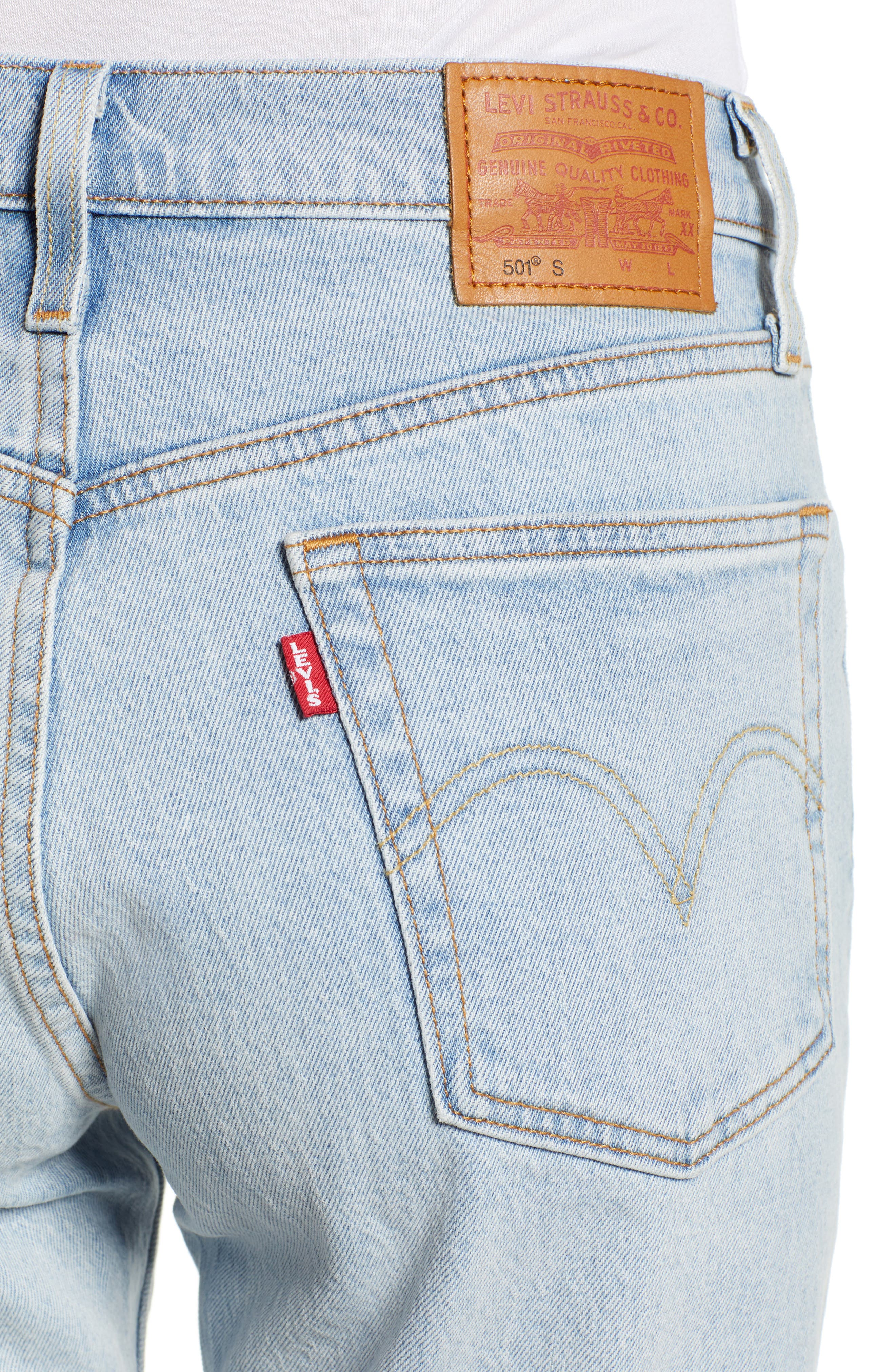 501<sup>®</sup> Ankle Slim Jeans,                             Alternate thumbnail 4, color,                             450
