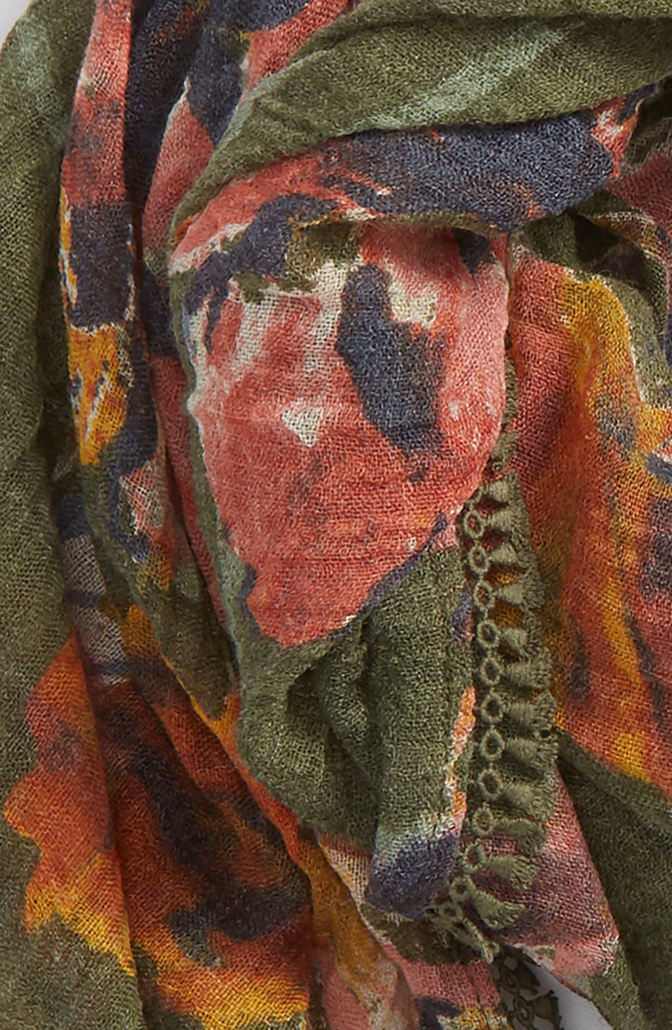 Floral Fringe Scarf,                             Alternate thumbnail 22, color,