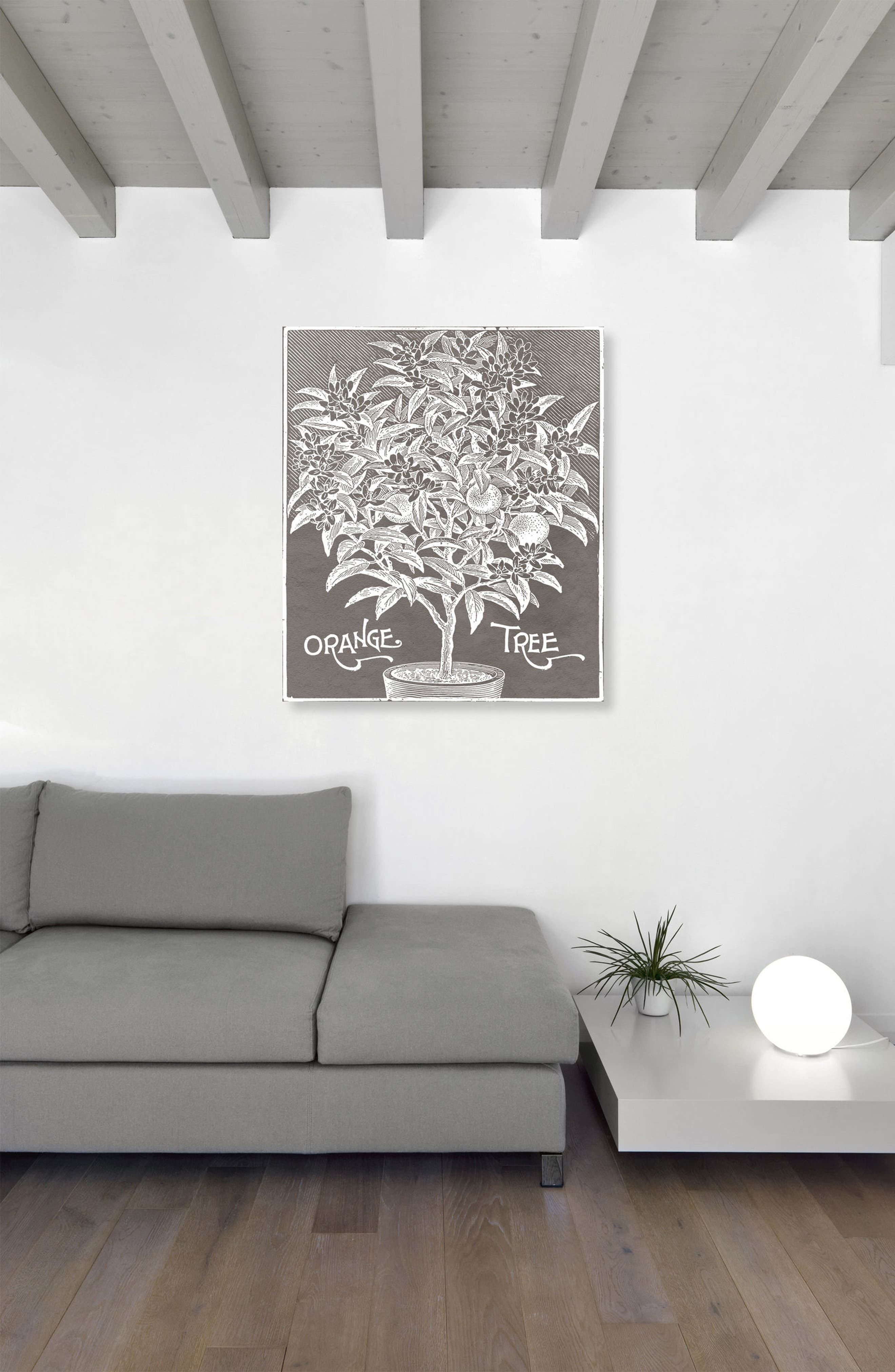 Orange Tree Canvas Wall Art,                             Alternate thumbnail 2, color,                             GREY
