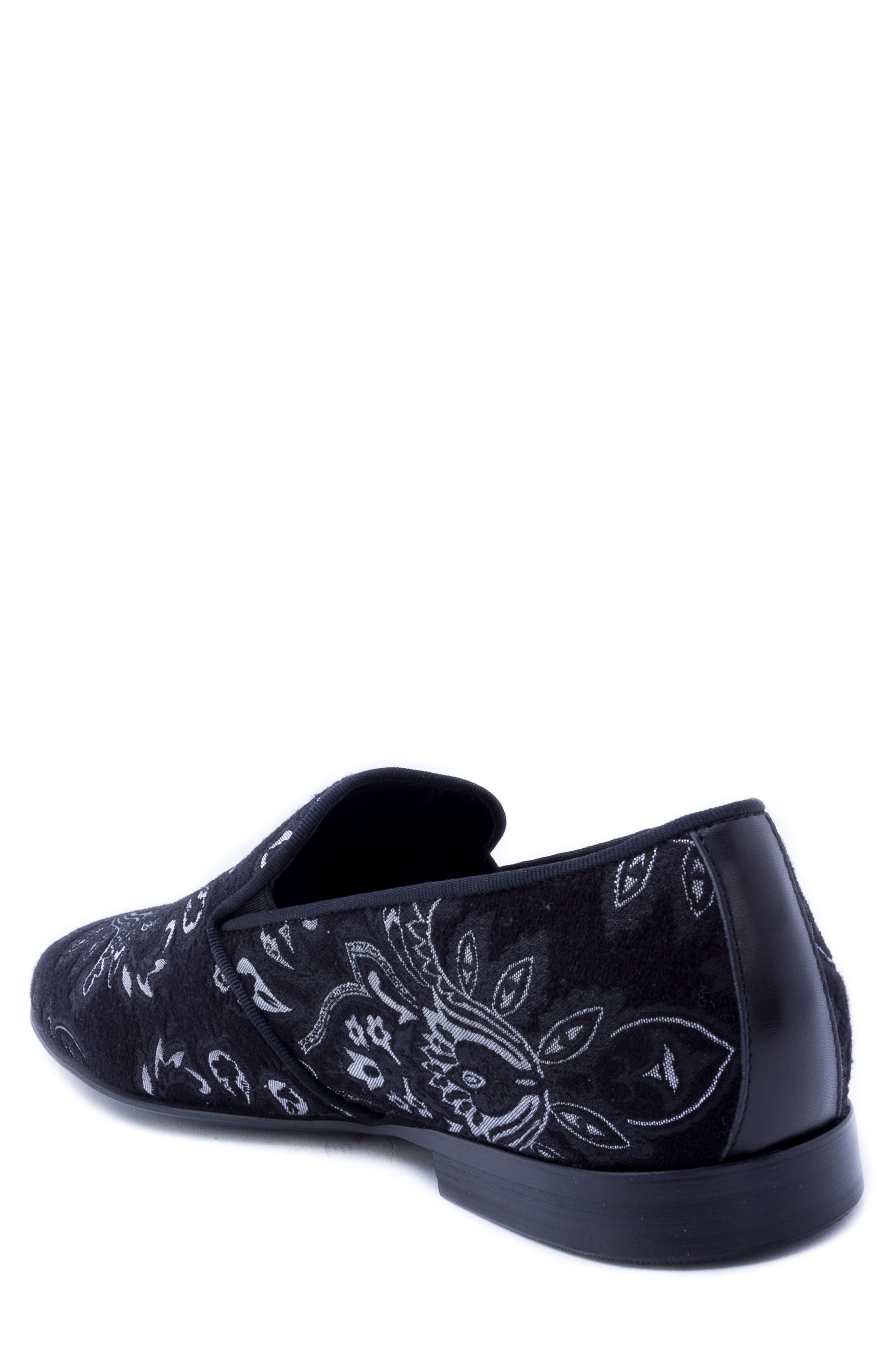 Peck Venetian Loafer,                             Alternate thumbnail 2, color,                             BLACK FABRIC