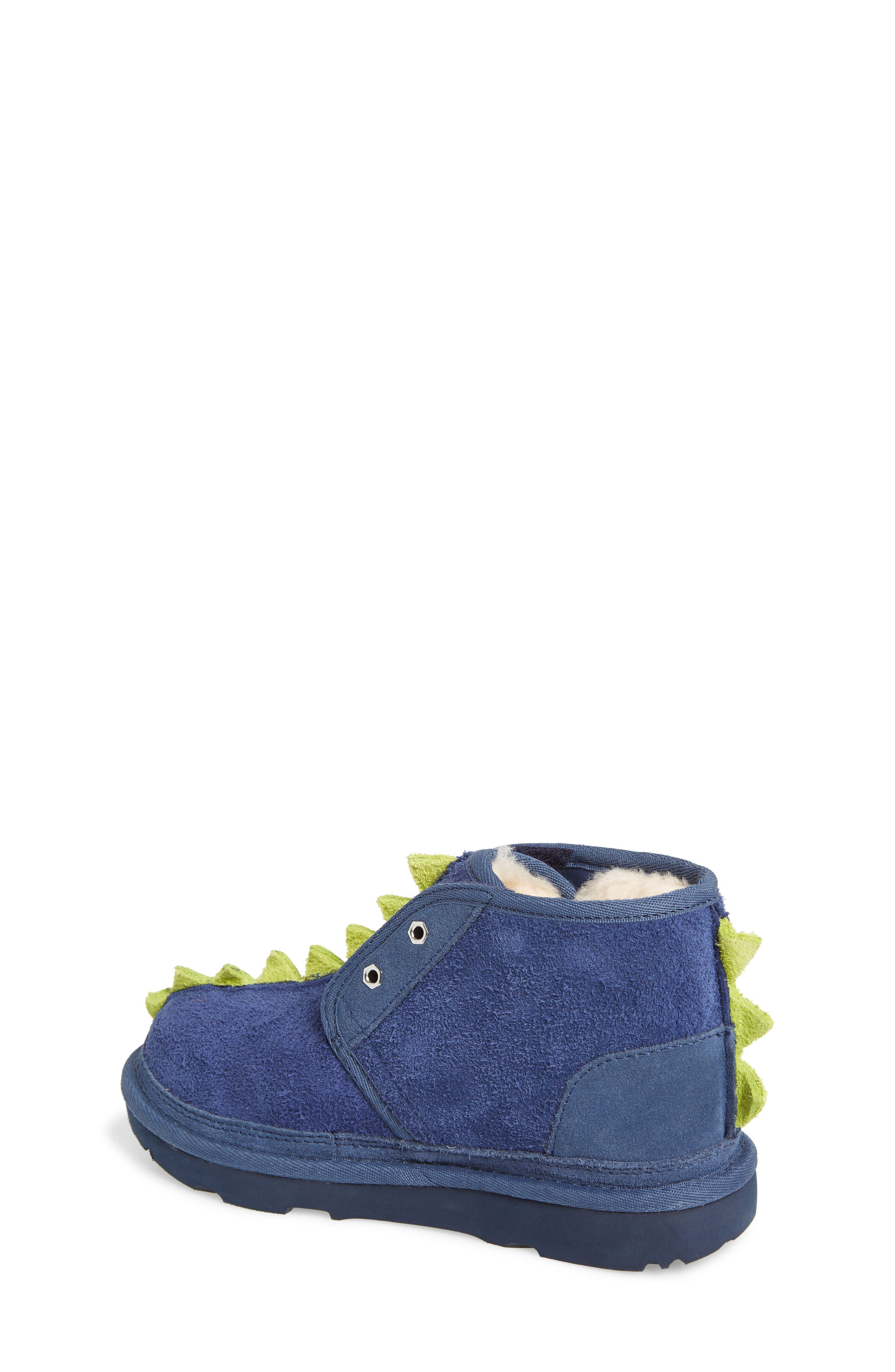 Dydo Neumel Genuine Shearling Lined Boot,                             Alternate thumbnail 2, color,                             NAVY / BRIGHT CHARTREUSE