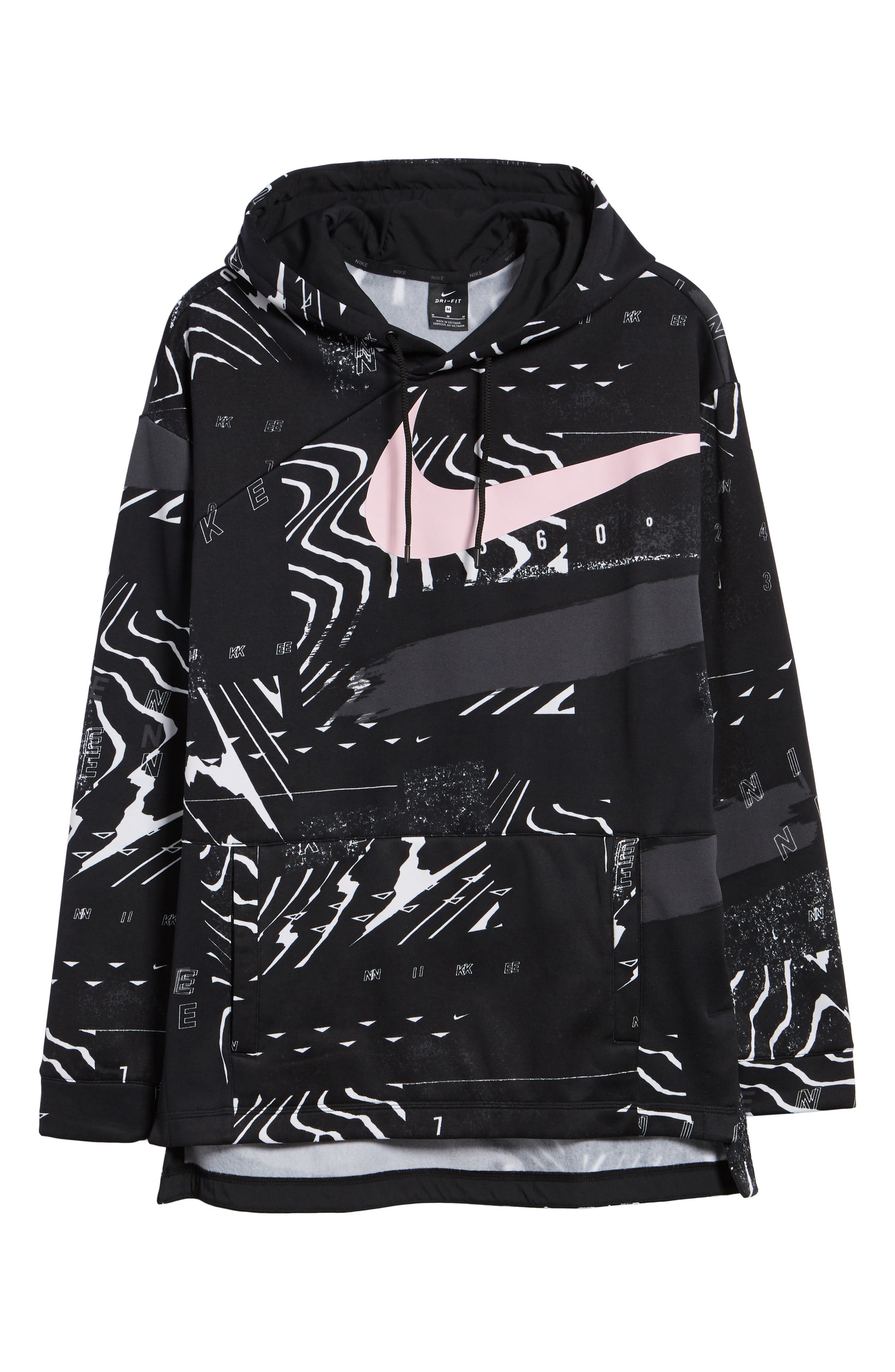 3.0 Therma-FIT Hoodie,                             Alternate thumbnail 6, color,                             BLACK/ WHITE/ PINK FOAM