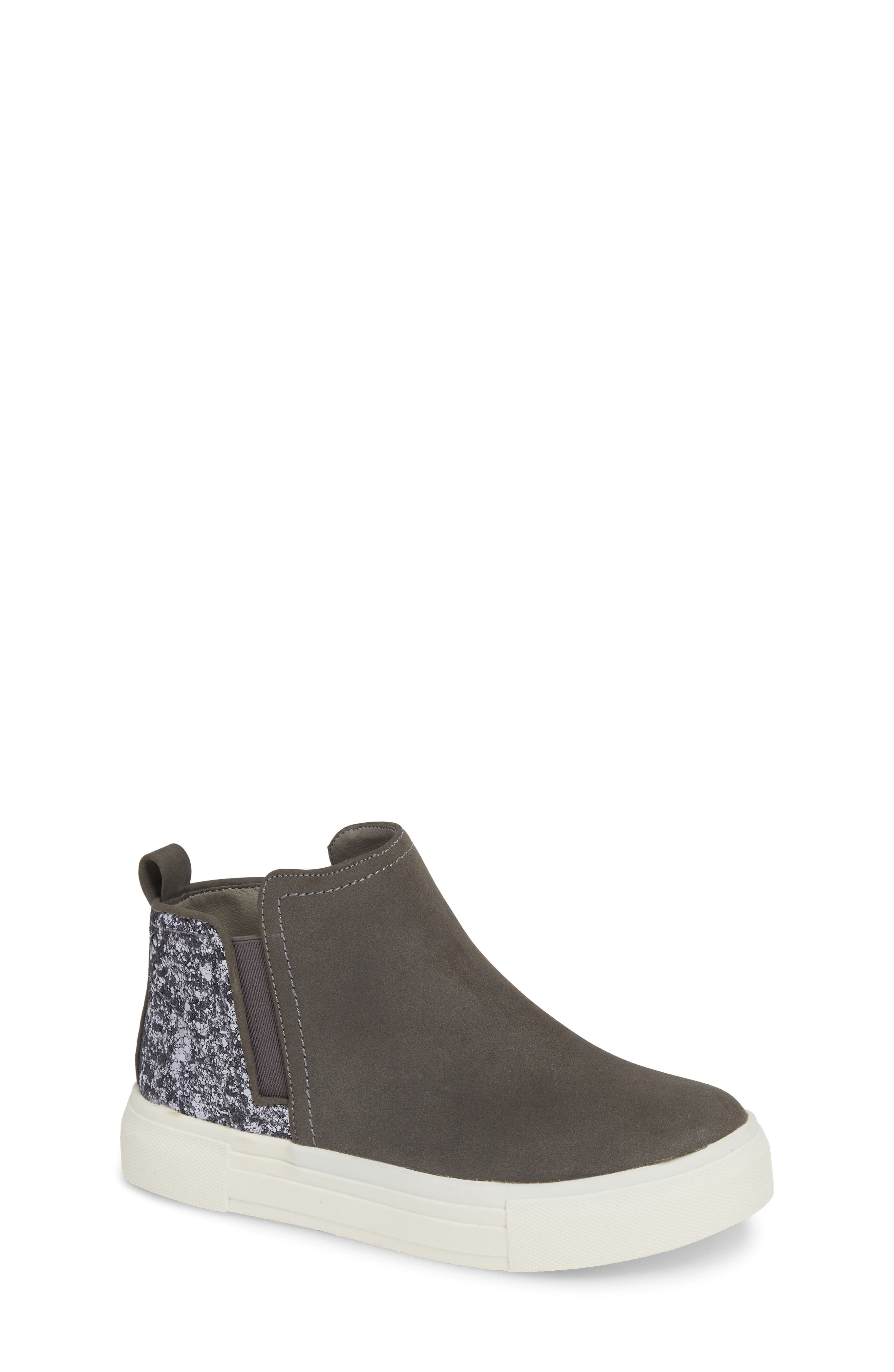 DOLCE VITA Pull-On Glitter Bootie Sneaker, Main, color, SLATE