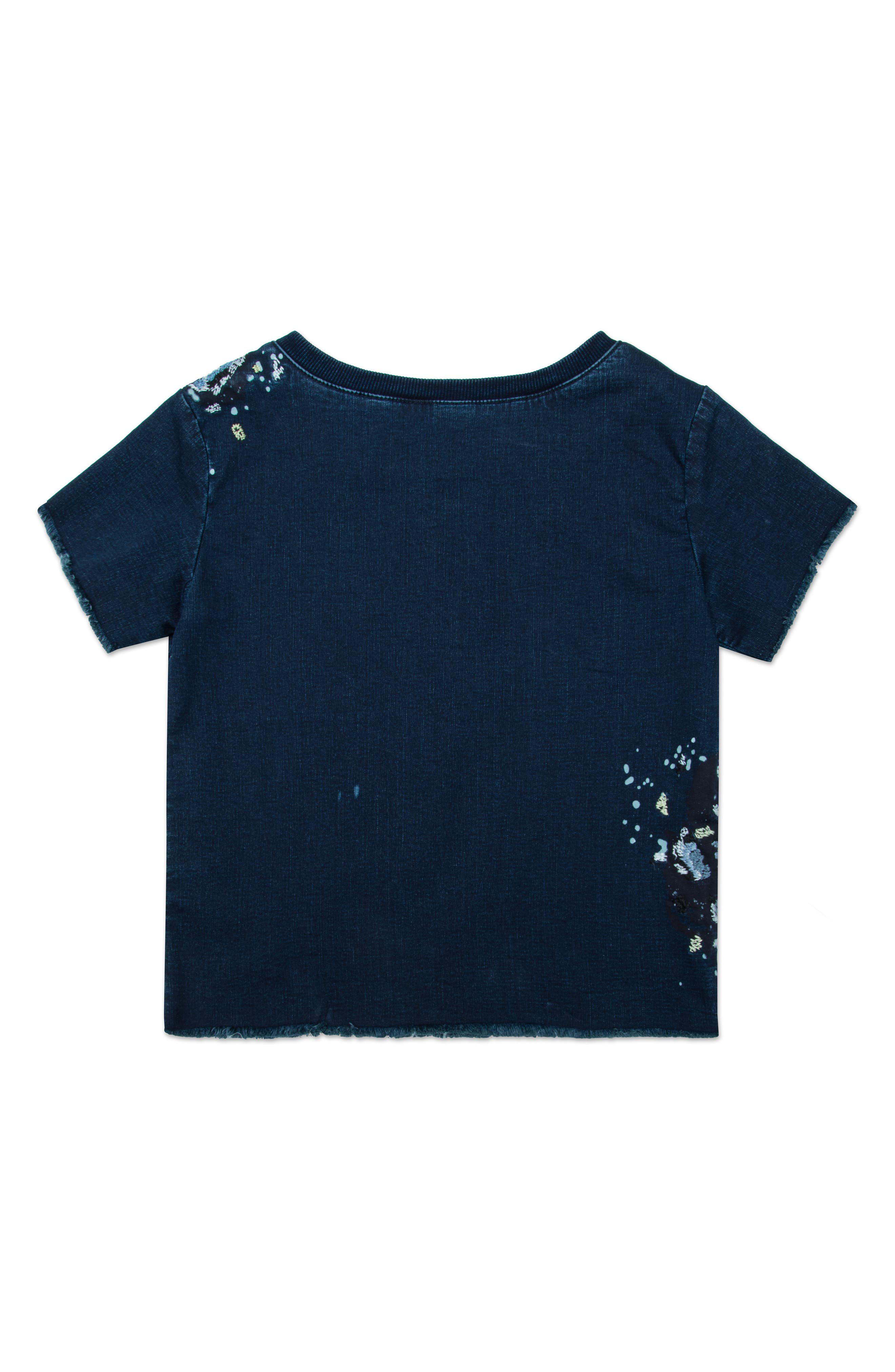 Embroidered Denim Top,                             Alternate thumbnail 2, color,