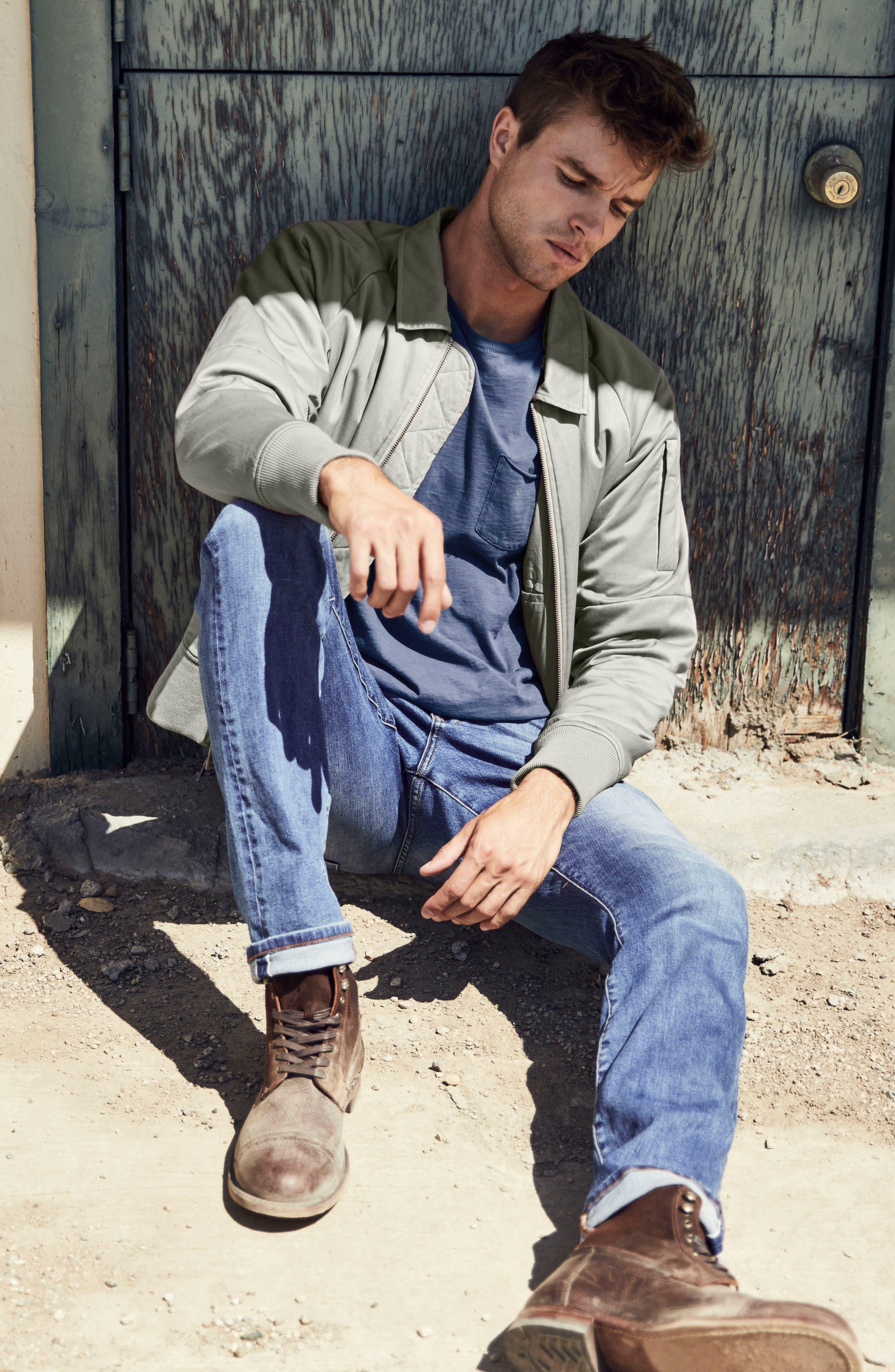 Slim Fit Jeans,                             Alternate thumbnail 4, color,