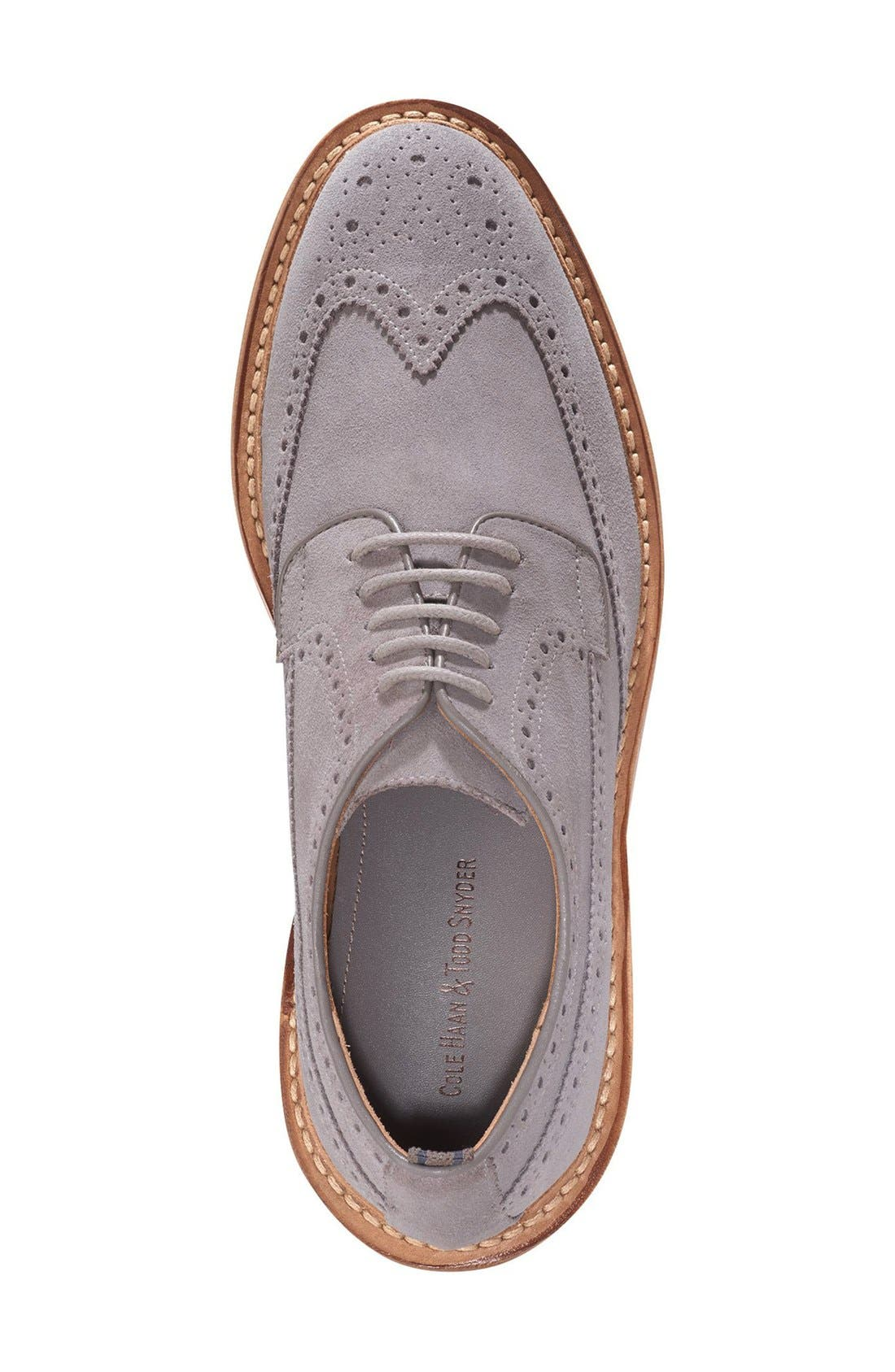 COLE HAAN & TODD SNYDER,                             'Hammond' Wingtip,                             Alternate thumbnail 3, color,                             025
