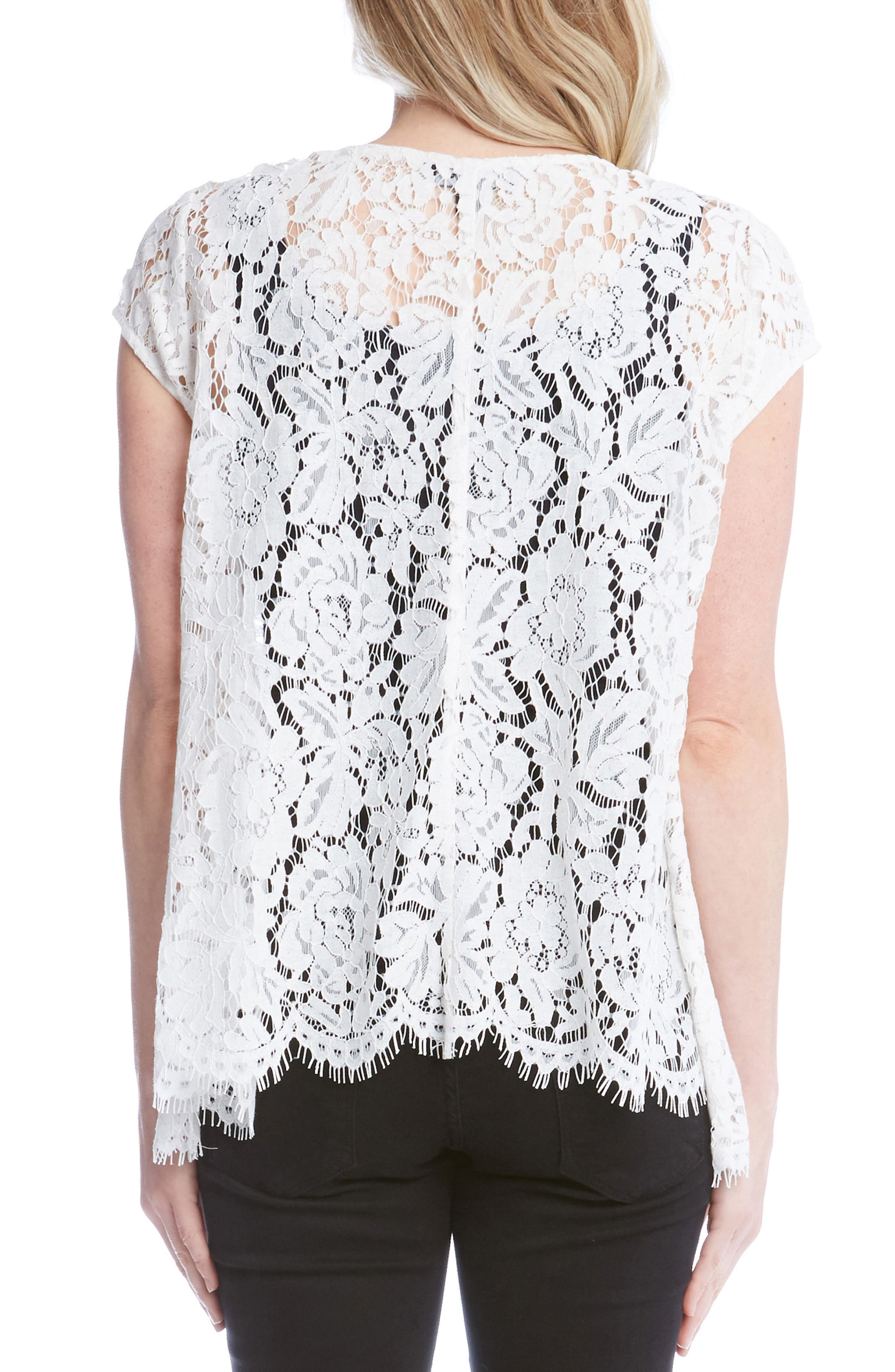 Lace High/Low Top,                             Alternate thumbnail 2, color,                             109
