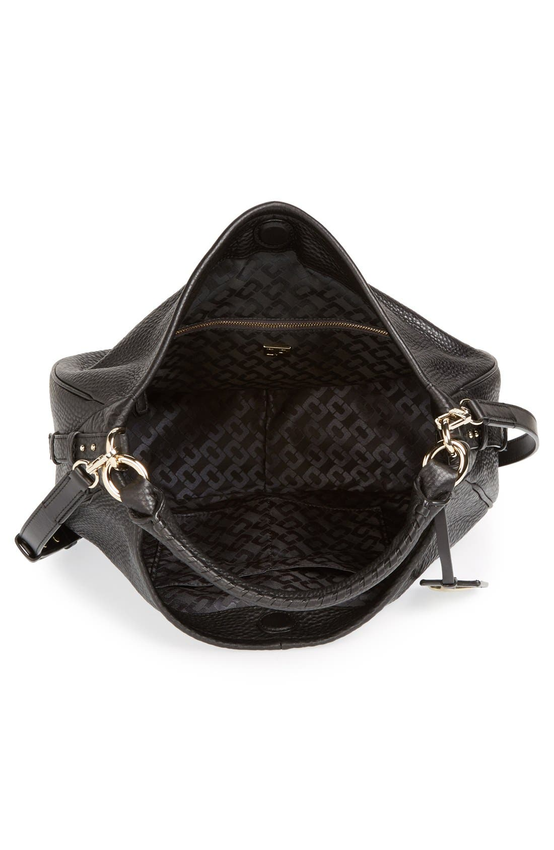 'Sutra' Leather Hobo,                             Alternate thumbnail 3, color,                             001