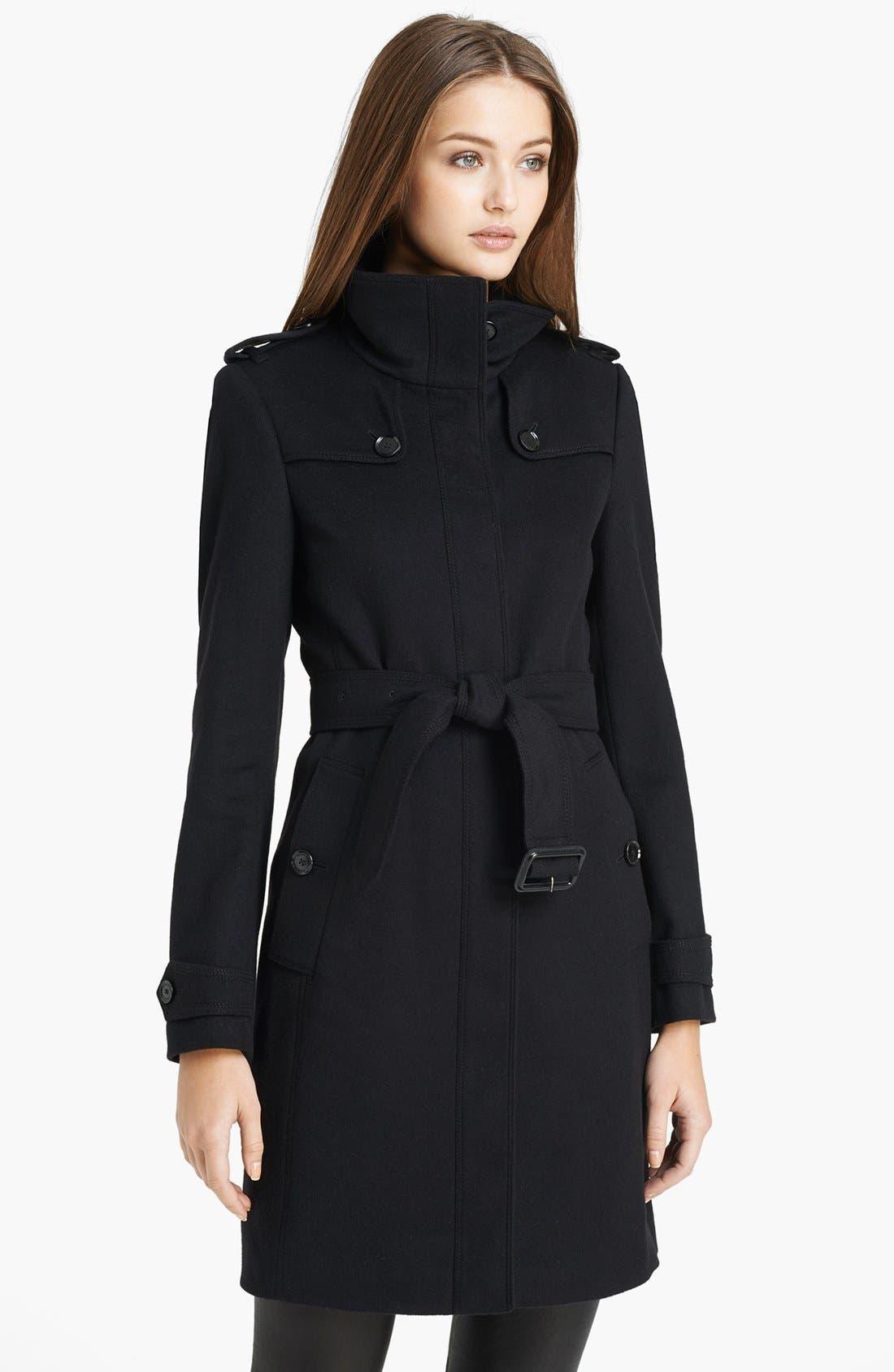 'Basingstoke' Wool & Cashmere Coat, Main, color, 001