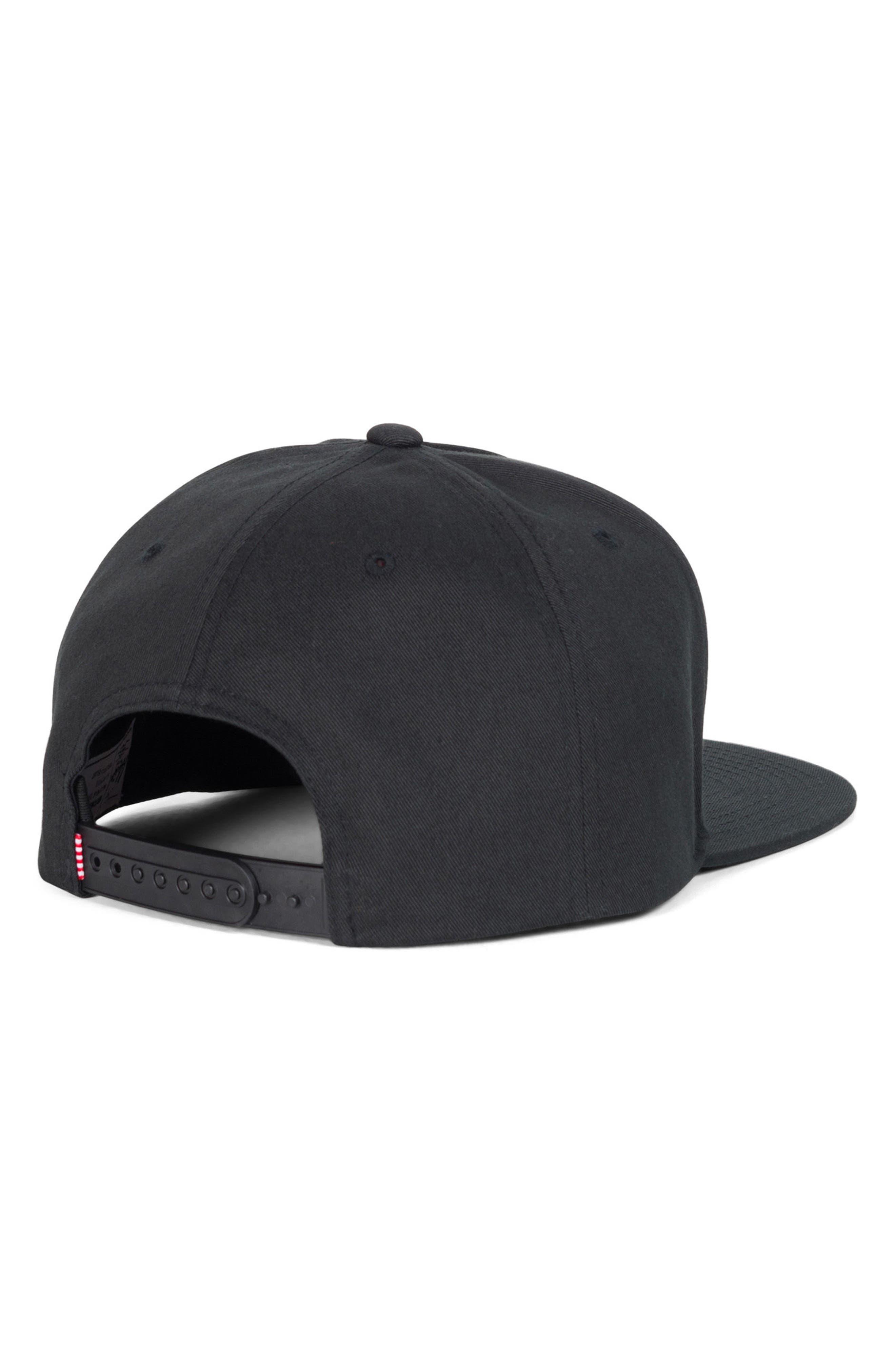 Dean Snapback Baseball Cap,                             Alternate thumbnail 2, color,                             BLACK