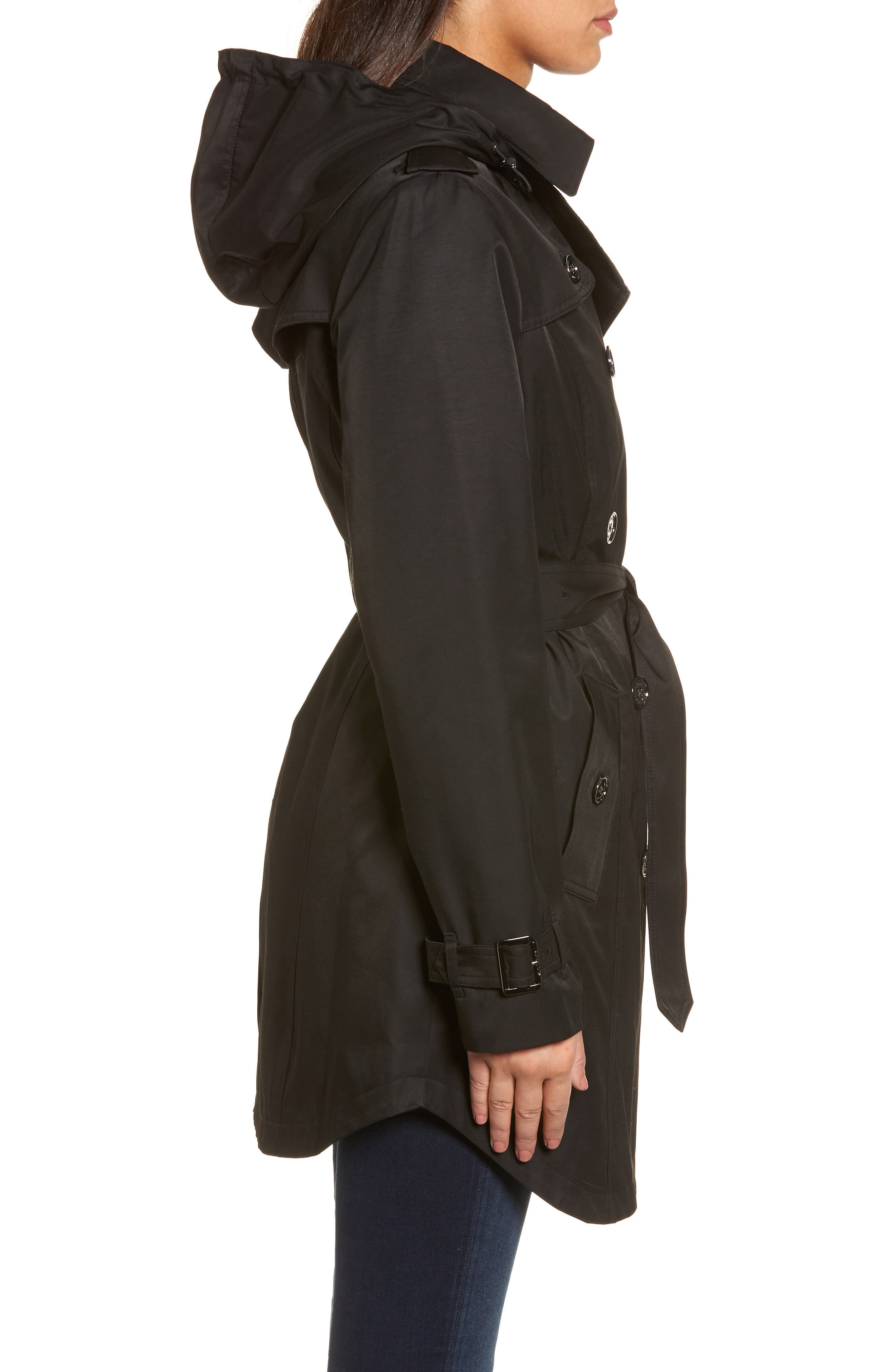 Trench Coat,                             Alternate thumbnail 3, color,                             001