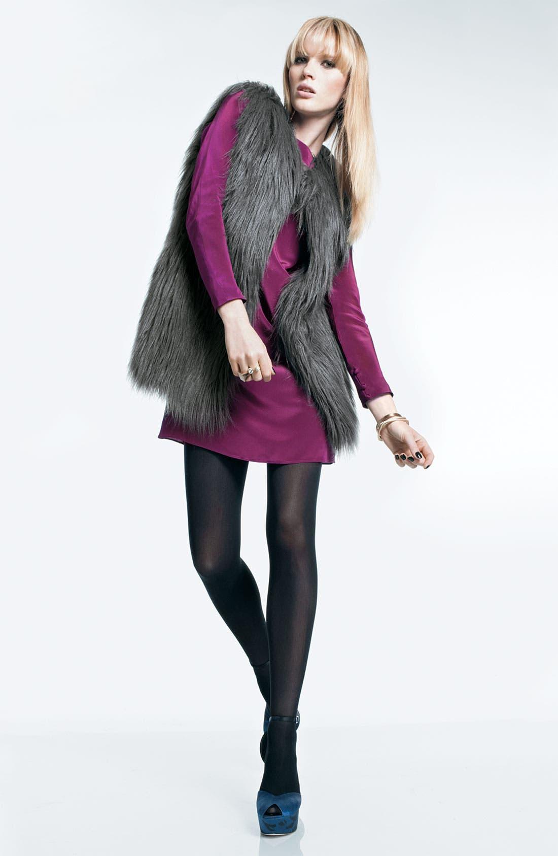 HAWKE & CO,                              Faux Fur Vest,                             Alternate thumbnail 2, color,                             020