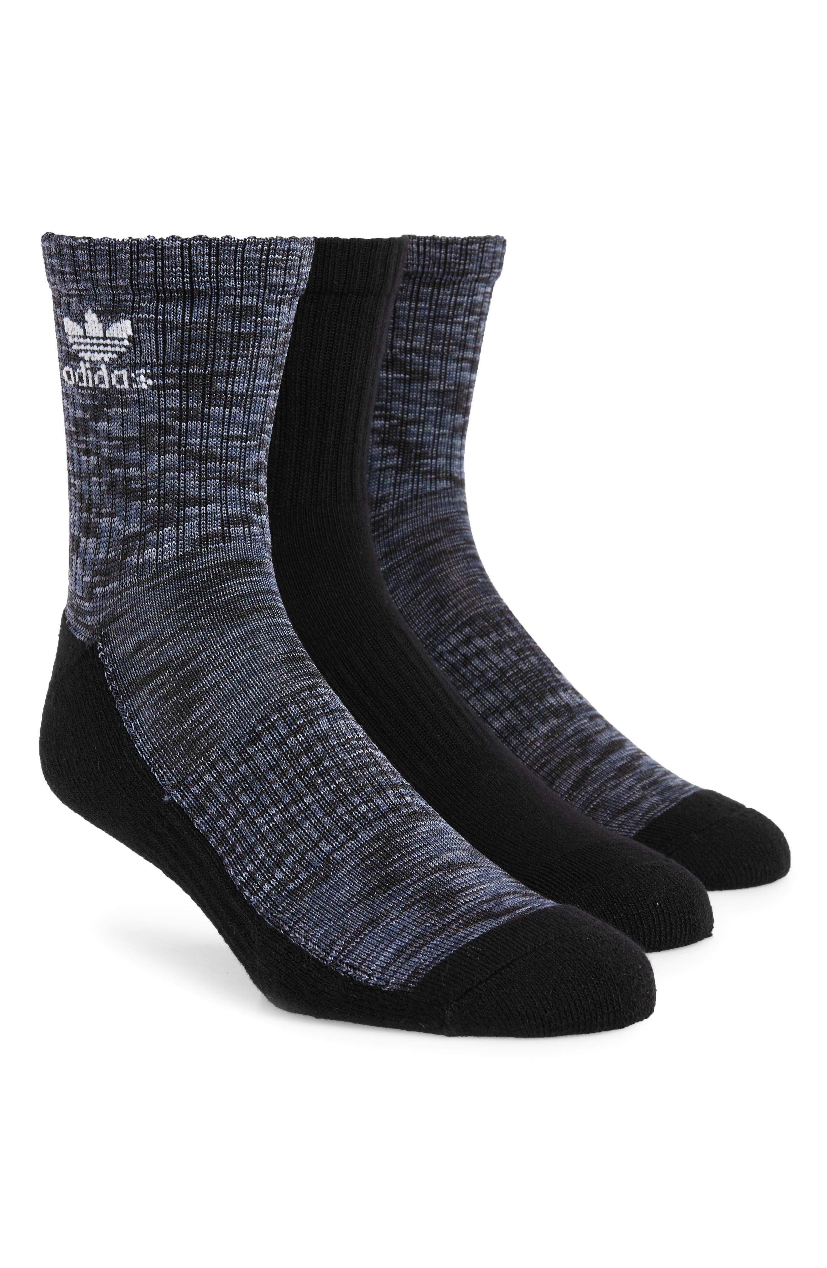 Space Dye Trefoil 3-Pack Socks,                             Main thumbnail 1, color,                             001