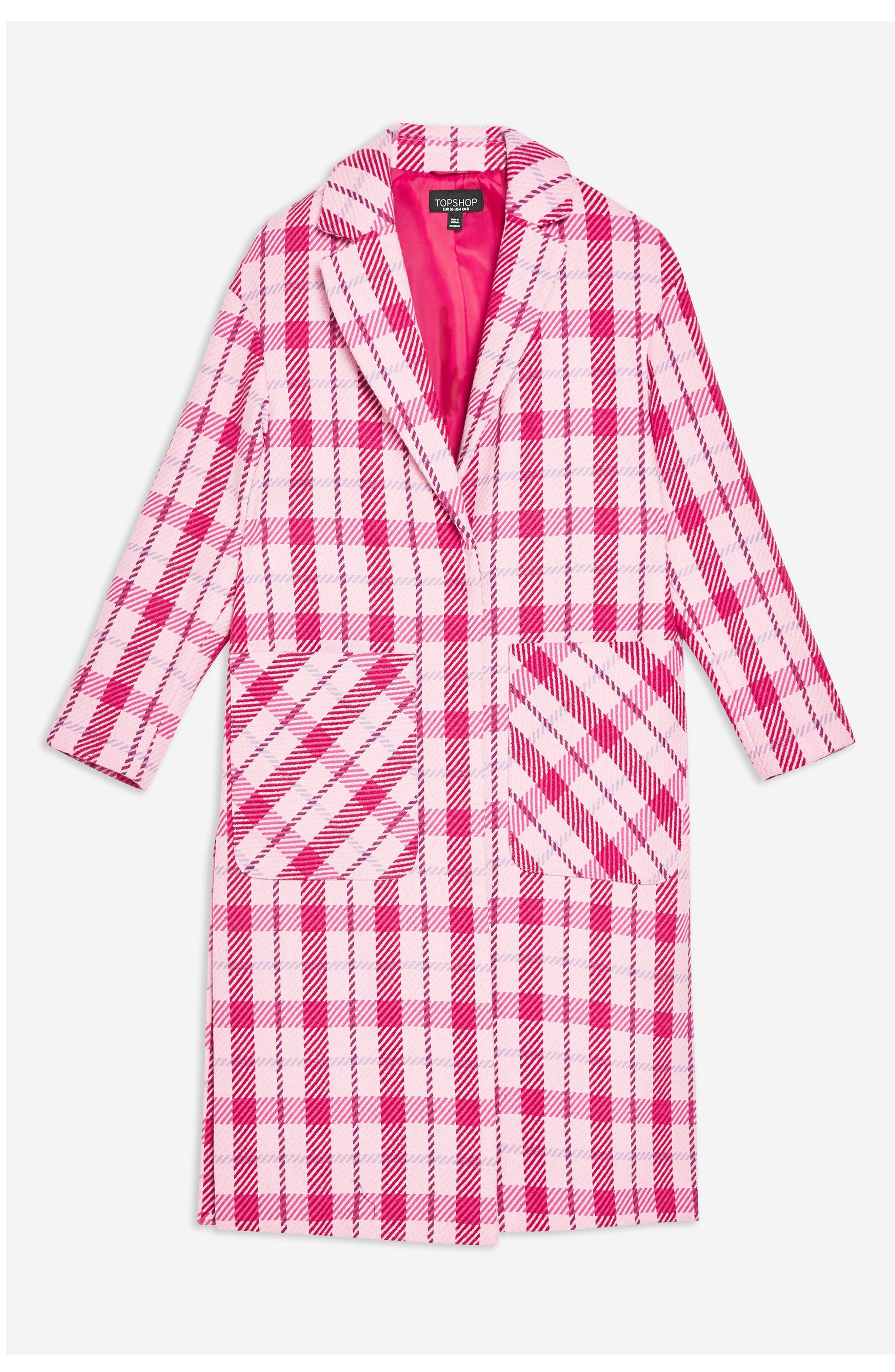 Suzy Check Side Split Jacket,                             Alternate thumbnail 4, color,                             PINK MULTI