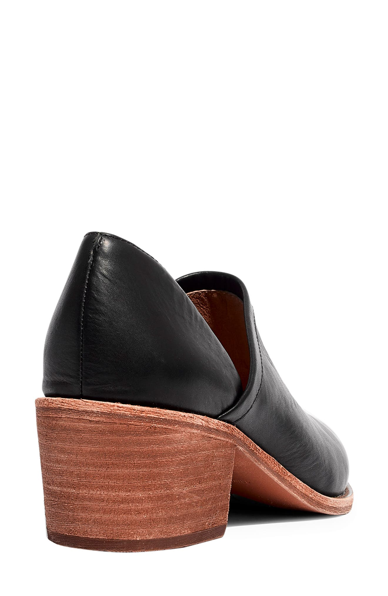 The Brady Block Heel Bootie,                             Alternate thumbnail 10, color,                             TRUE BLACK LEATHER