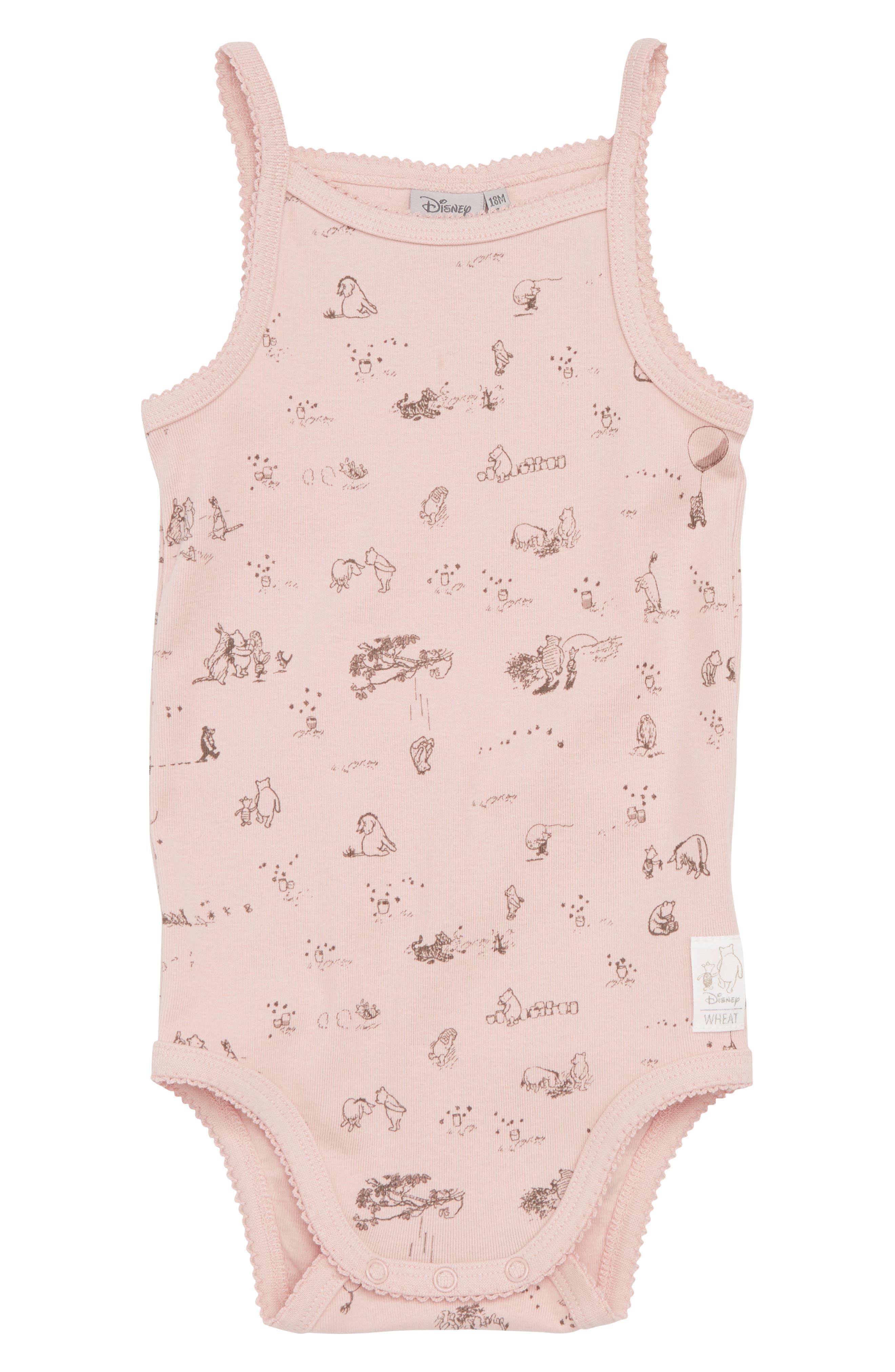 x Disney<sup>®</sup> Winnie the Pooh Organic Cotton Bodysuit,                         Main,                         color, 652
