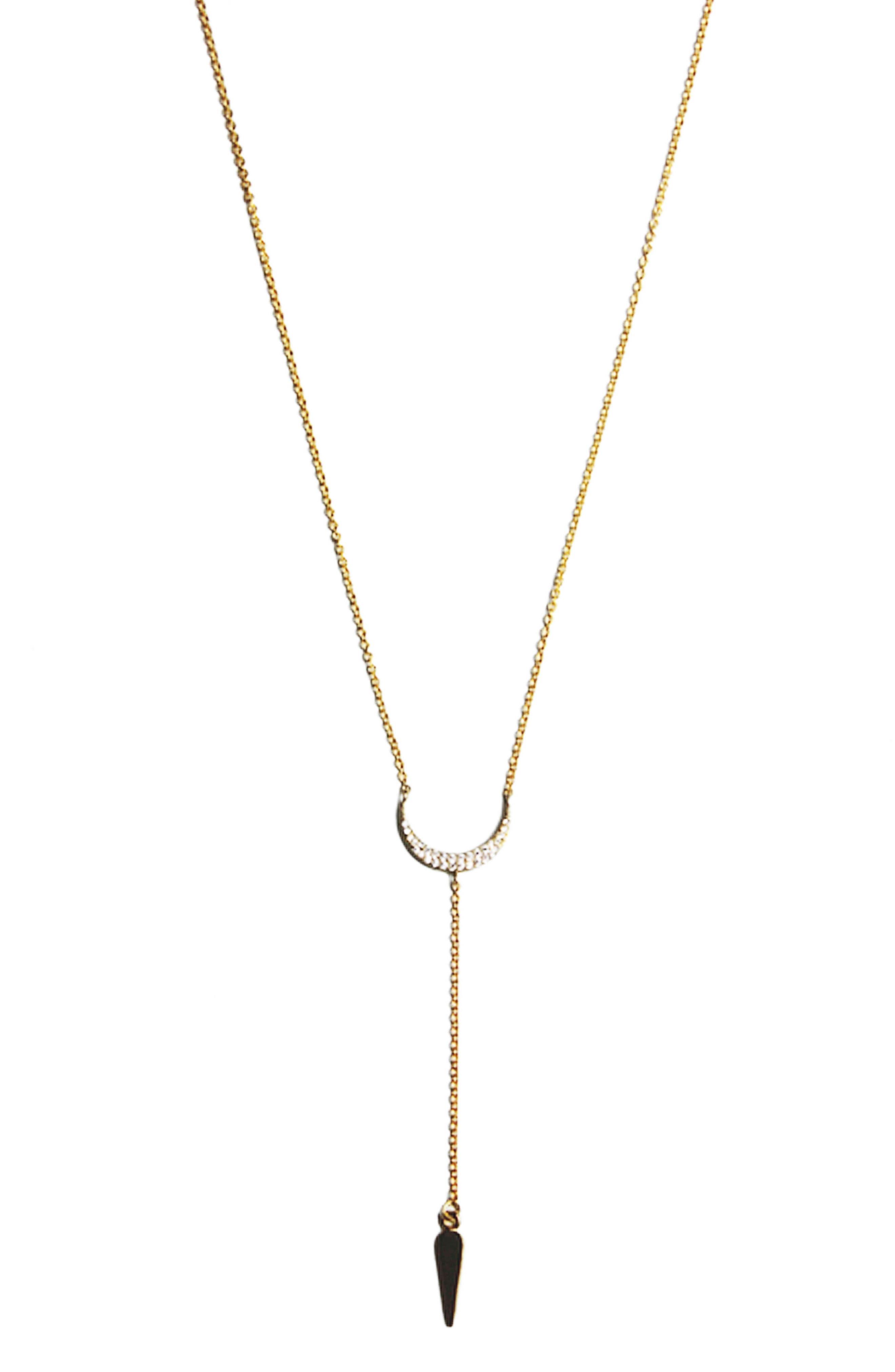 Crescent Lariat Necklace,                         Main,                         color, 710