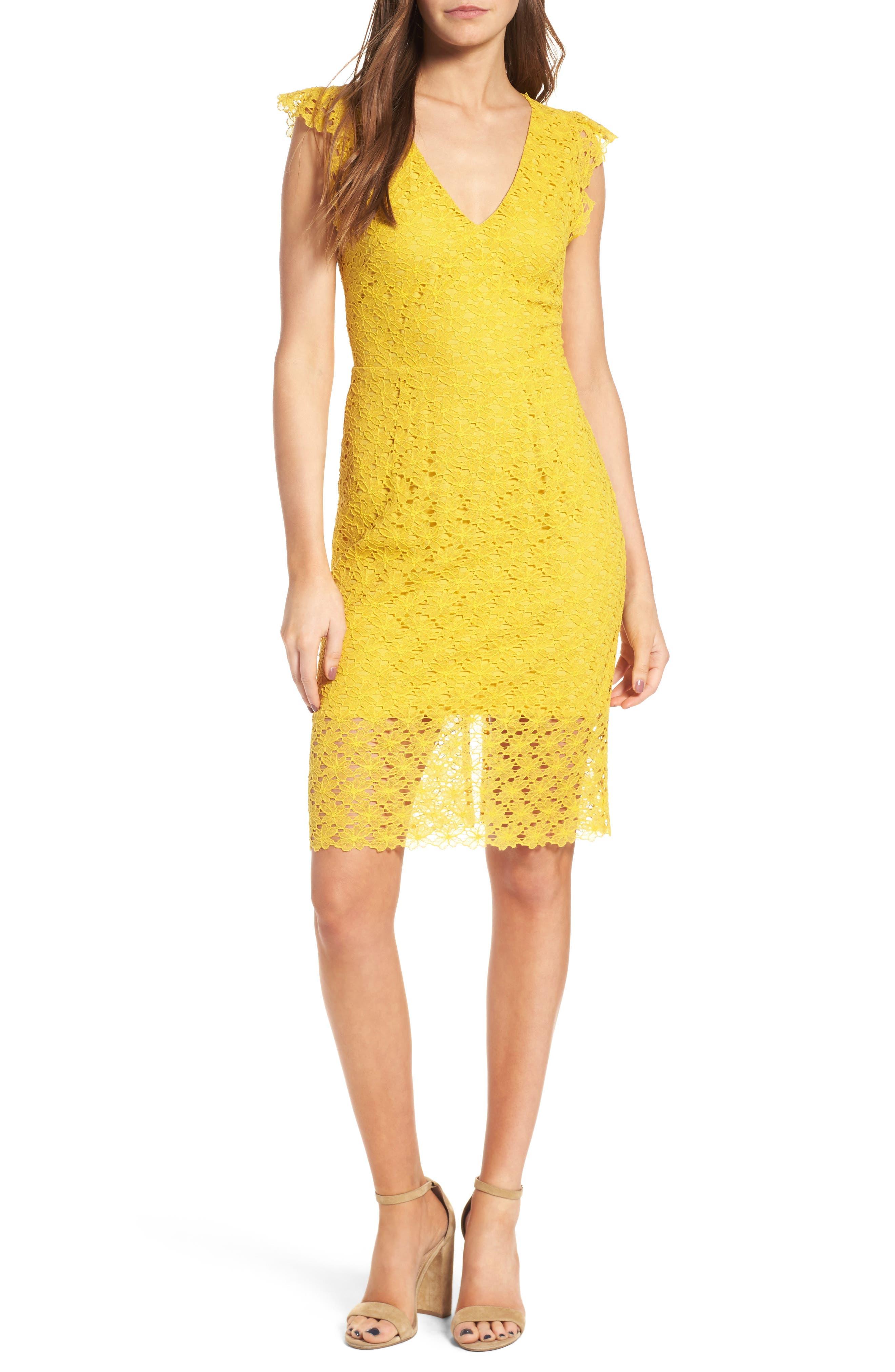 Lace Sheath Dress,                             Alternate thumbnail 5, color,                             745
