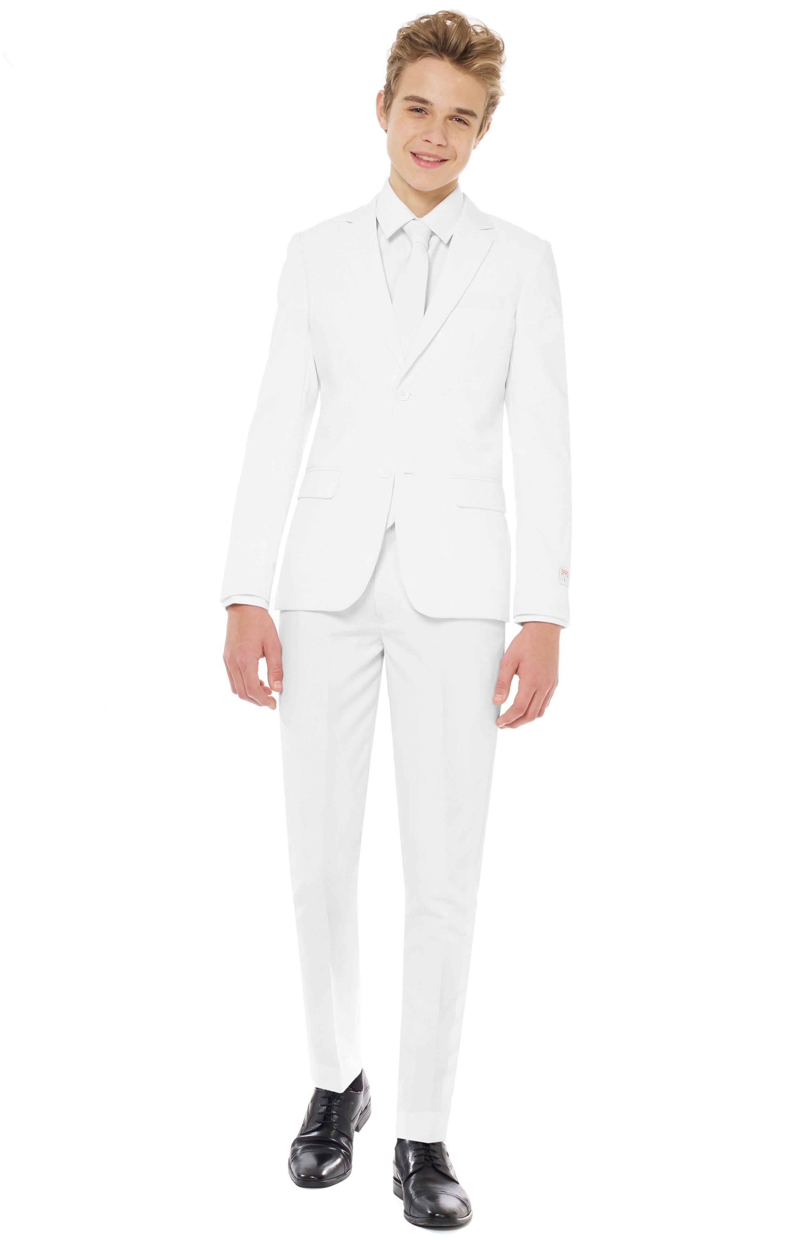 Boys Opposuits White Knight TwoPiece Suit With Tie